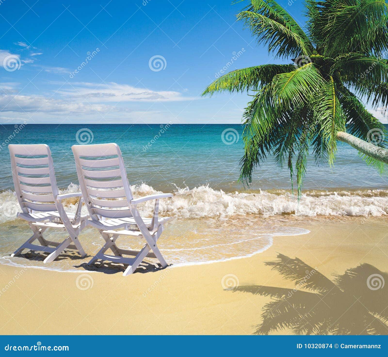 Relaxing On Beautiful Beach Stock Photo