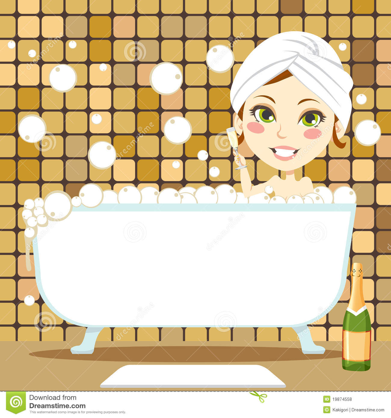 Relaxing Bubble Bath Royalty Free Stock Photos Image