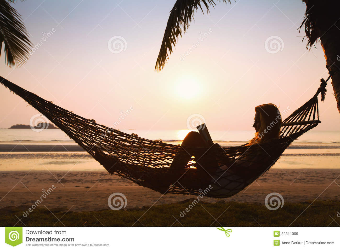 Relaxing In Hammock Royalty Free Stock Images Image 32311009