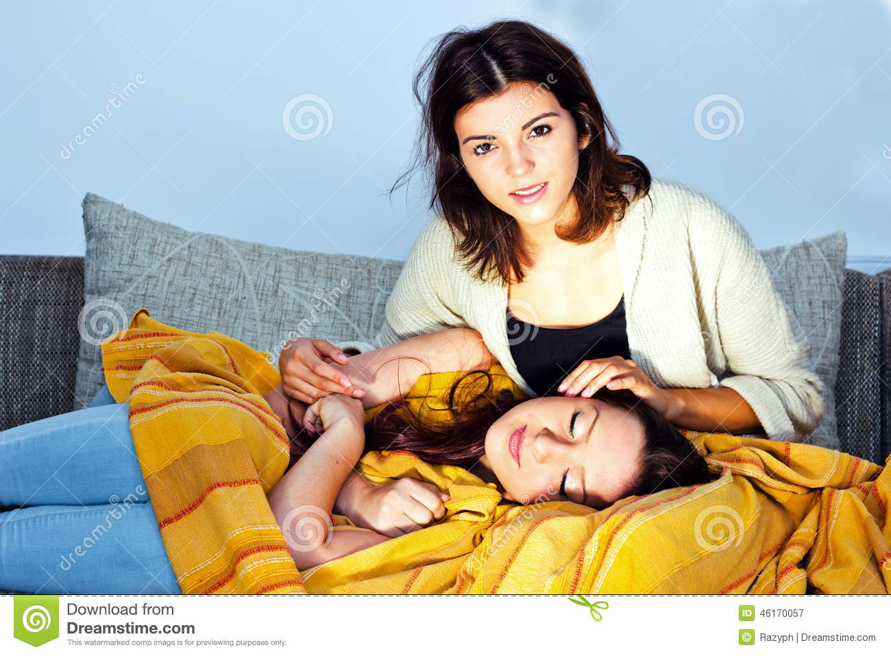 Relaxing At Home Stock Photo Image 46170057