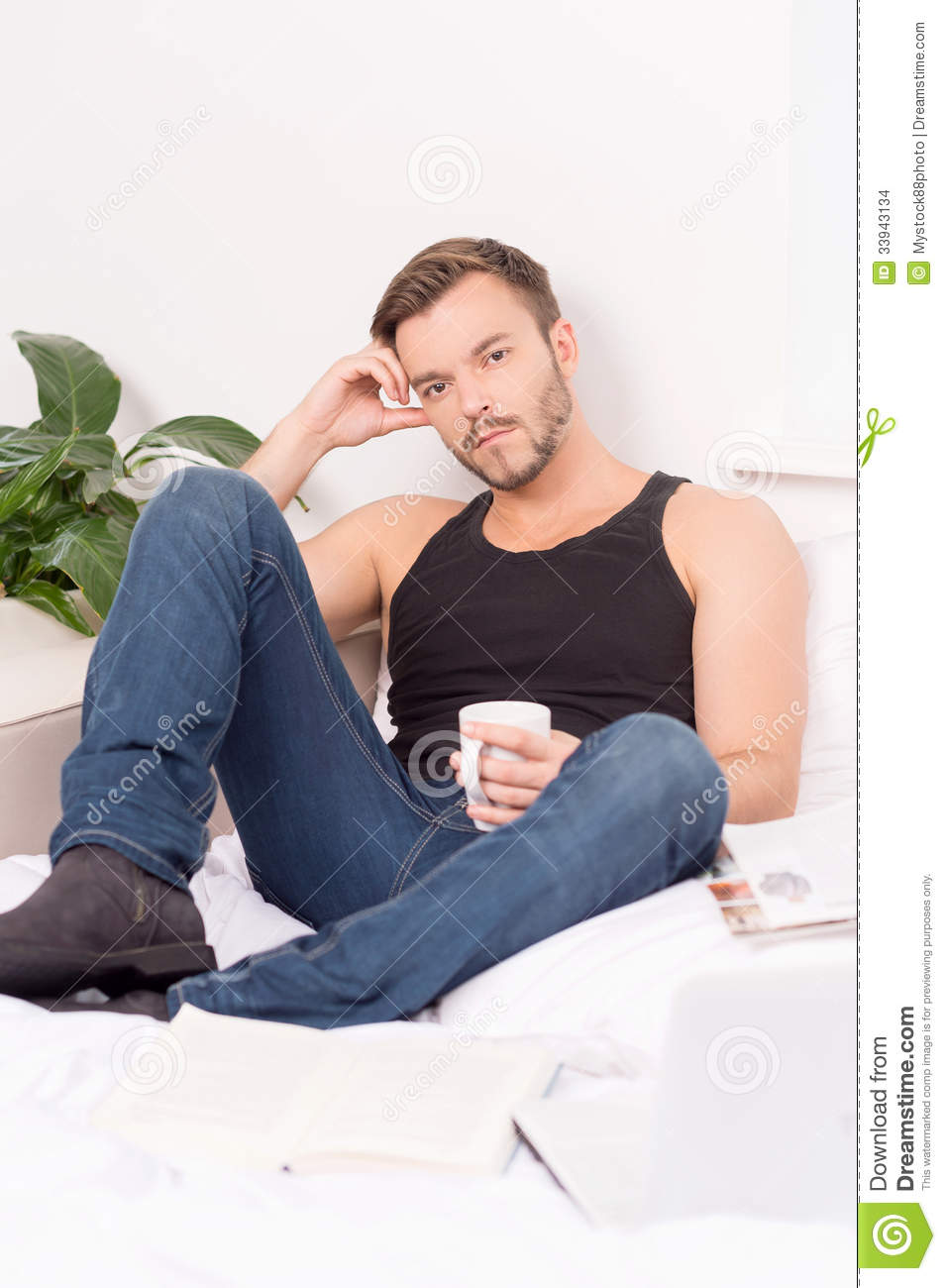 Relaxing At Home Stock Images Image 33943134