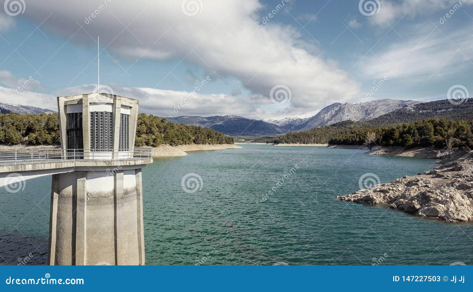 Relaxing landscape of Lake La Bolera