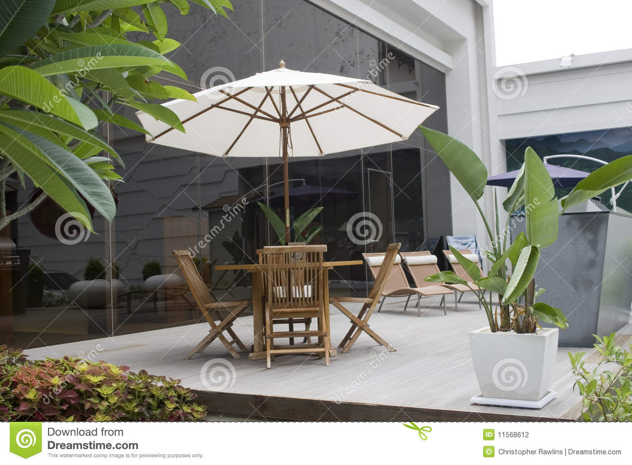 Relaxing Outside On A Patio Stock Photography Image