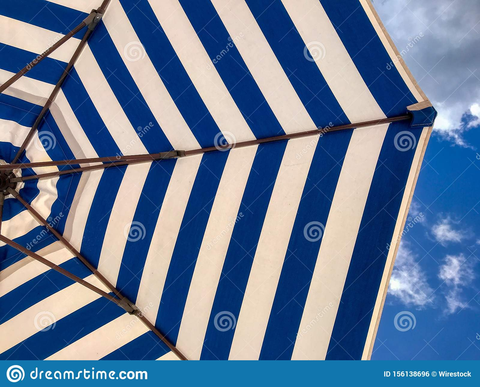 Relaxing Wallpaper With Striped Blue And White Textured