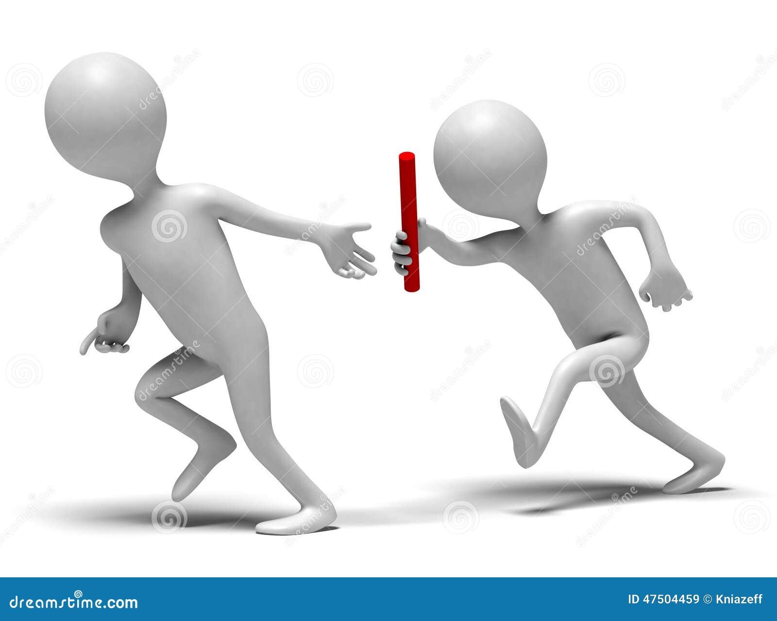Relay runners stock illustration. Illustration of white ...