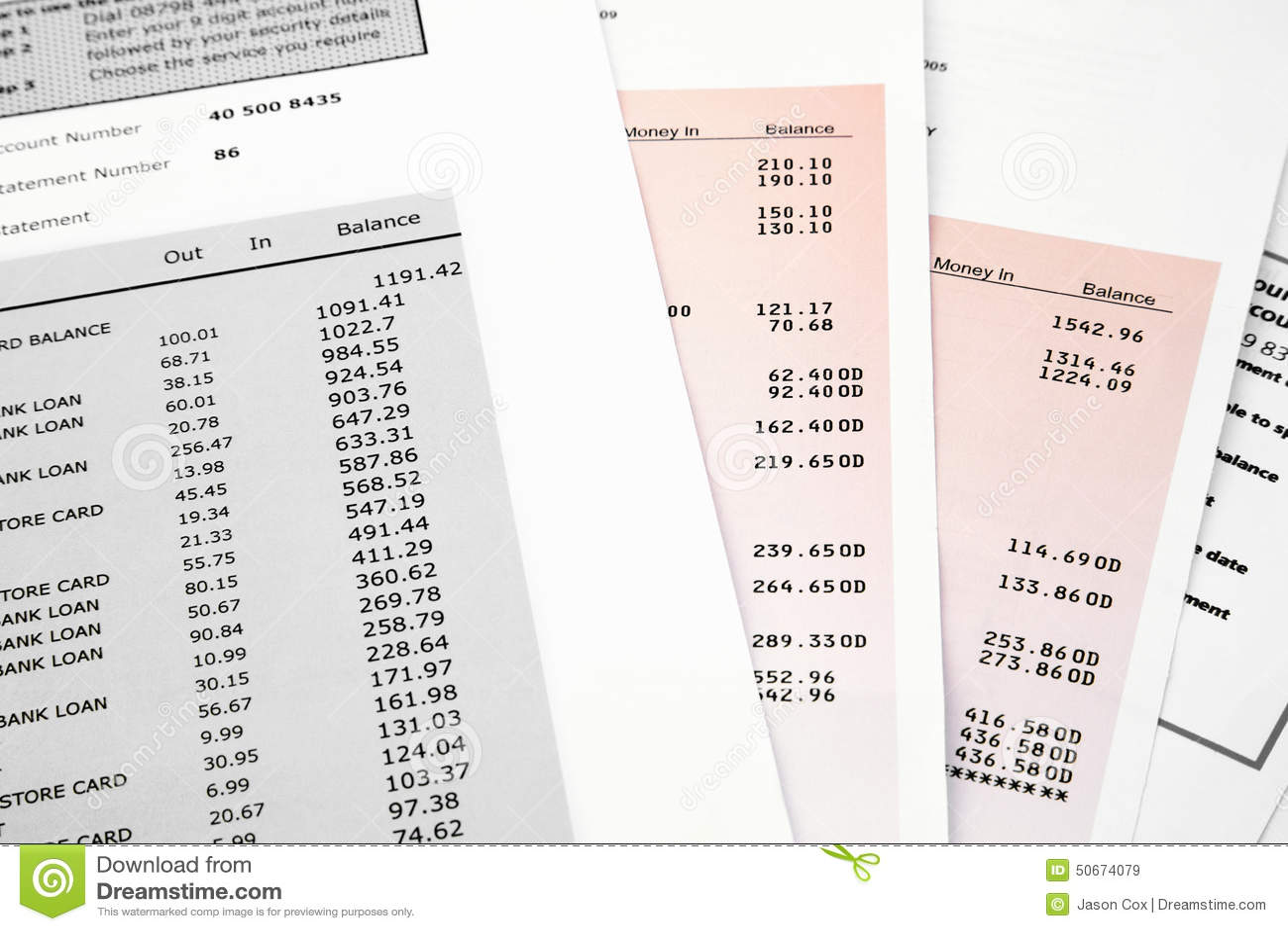 relevé de carte bancaire Relevé Bancaire De Carte De Crédit Image stock   Image du budget