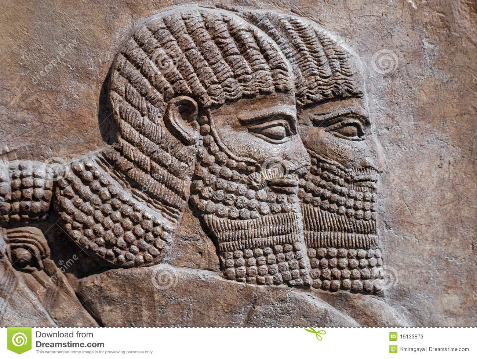 Dracma de Cosroes II Relevacin-antigua-de-dos-guerreros-asirios-15133873