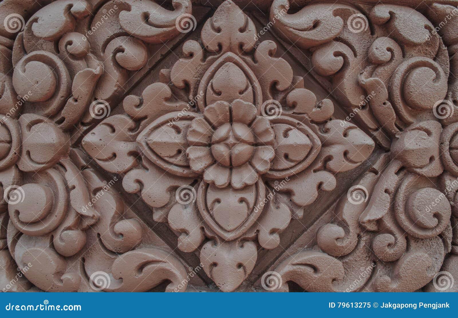 Relevo de Bas da flor de lótus