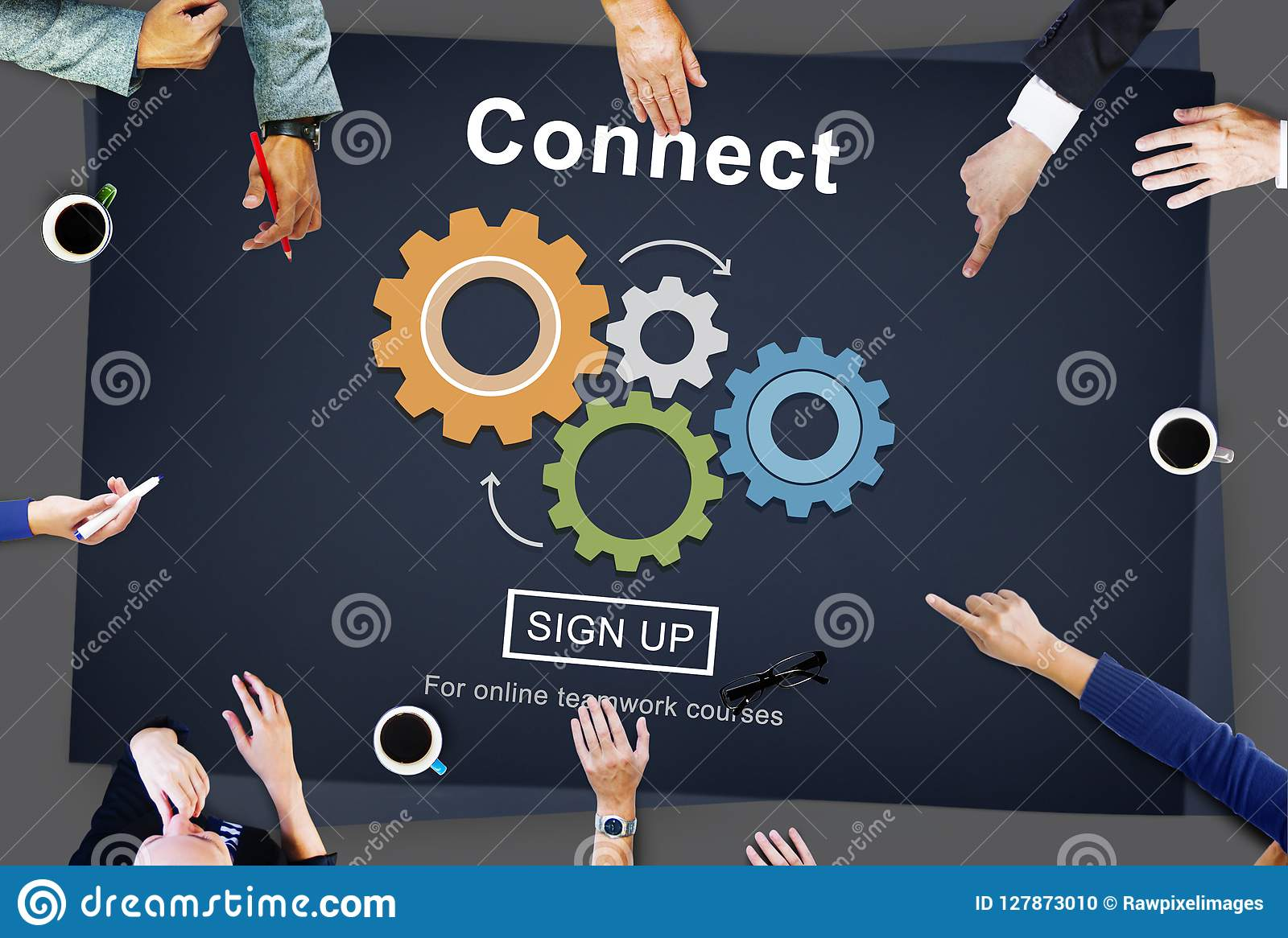 Reliez l interaction Team Teamwork Concept