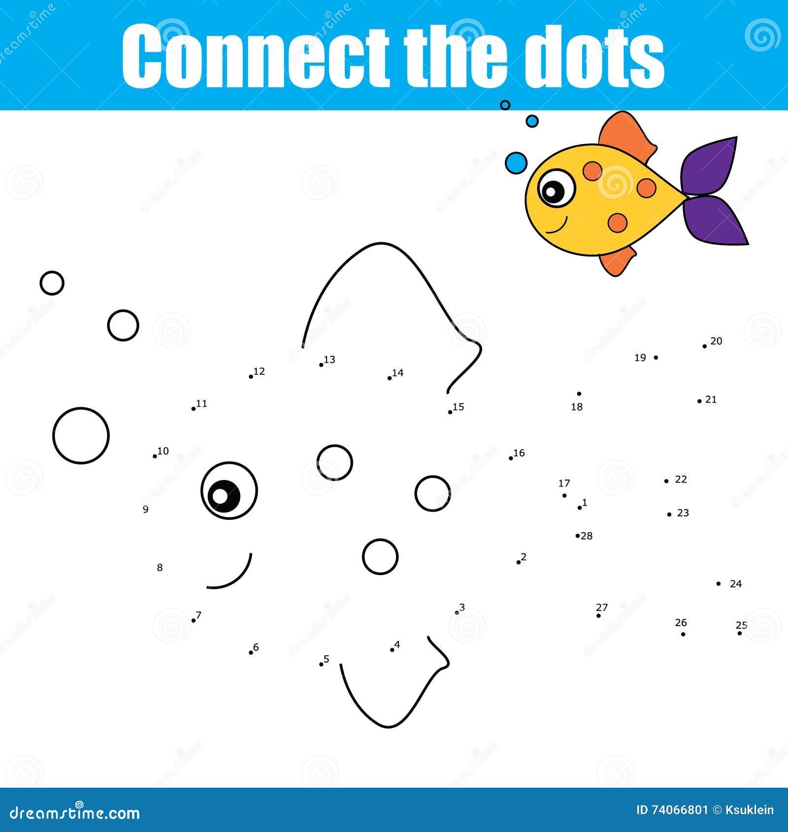 Reliez les points par le jeu éducatif d enfants de nombres, activité d enfants, colorant la page