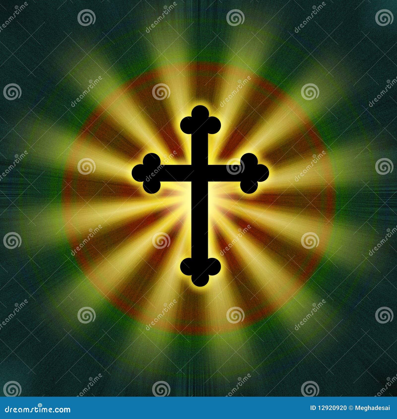 Religião transversal do símbolo do fulgor