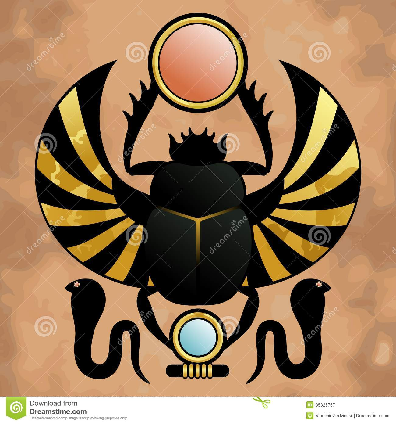 Religion Of Ancient Egypt Stock Vector Illustration Of Divine
