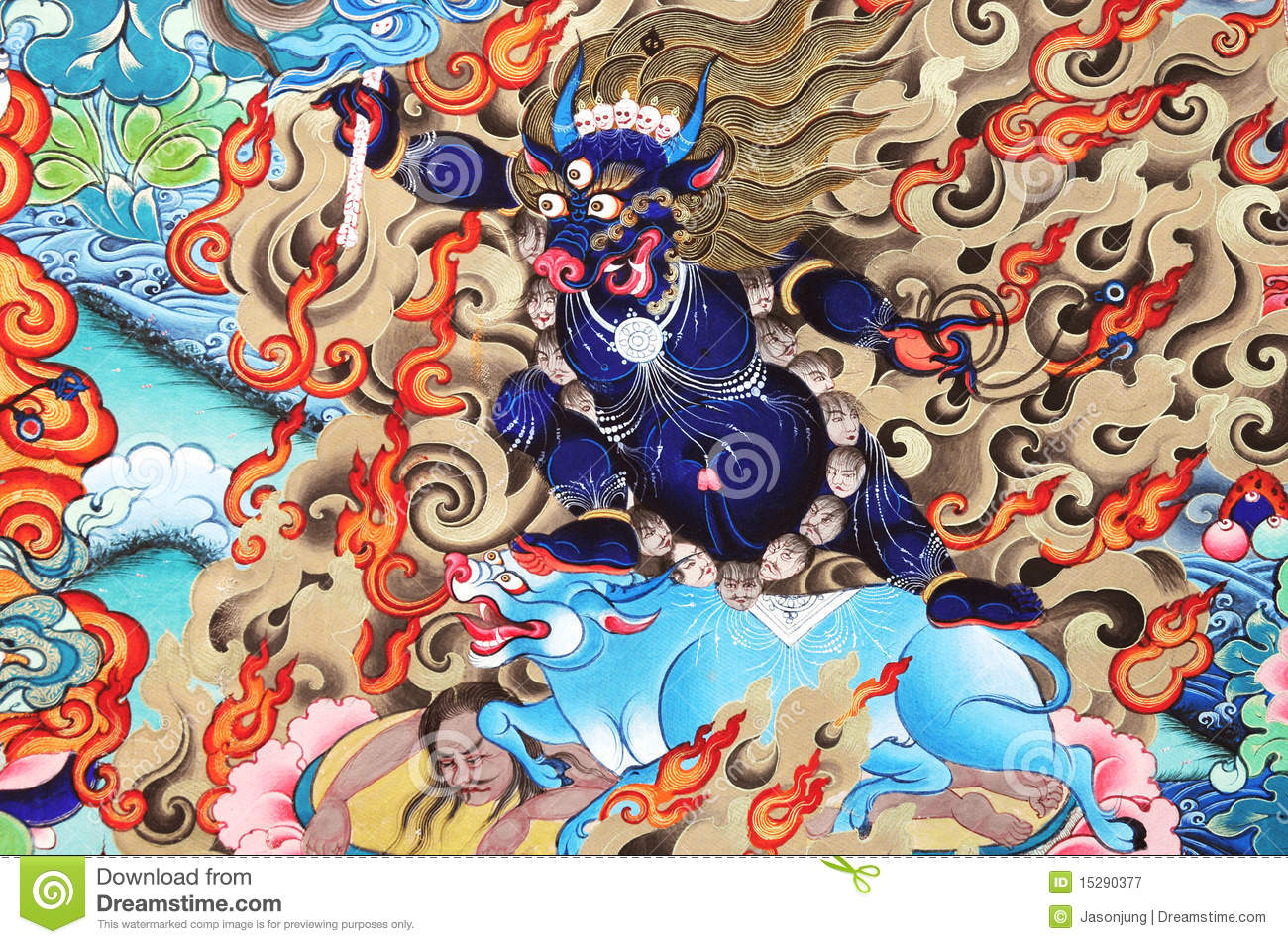 religion artwork about buddhism stock image image of monster rh dreamstime com copyright free artist images uk copyright free art posters