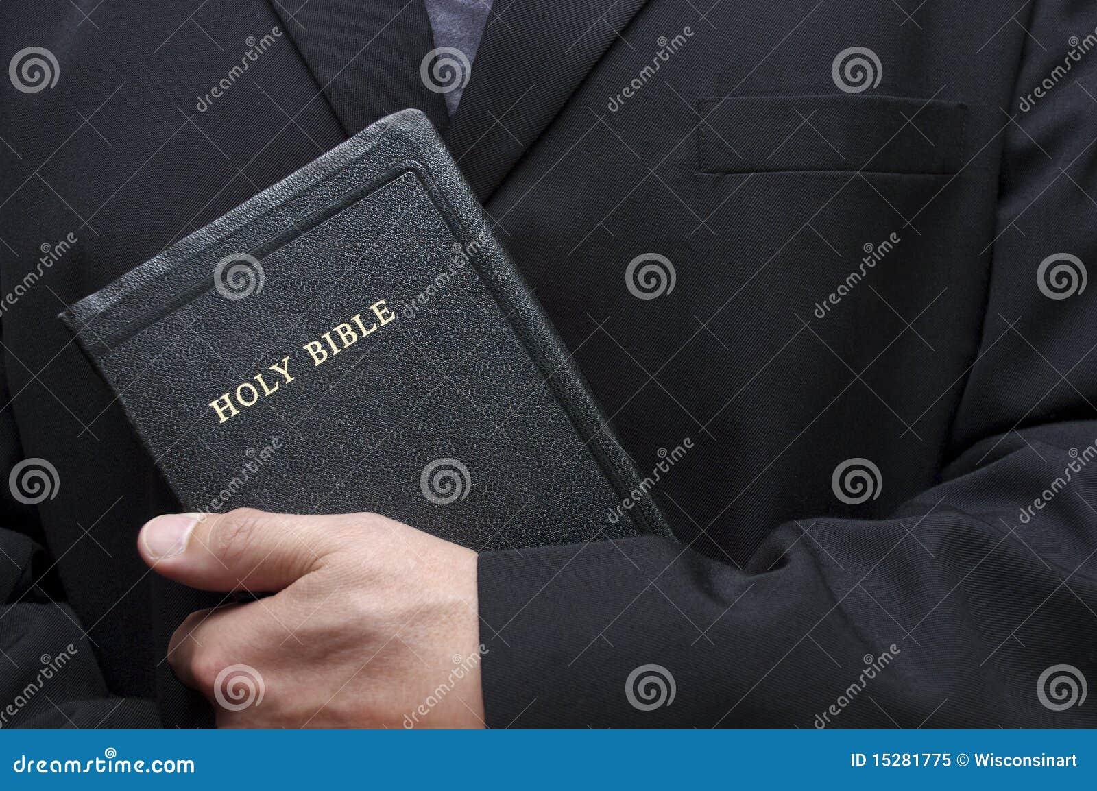 Religion chrétienne de livre de bible sainte de fixation bonne