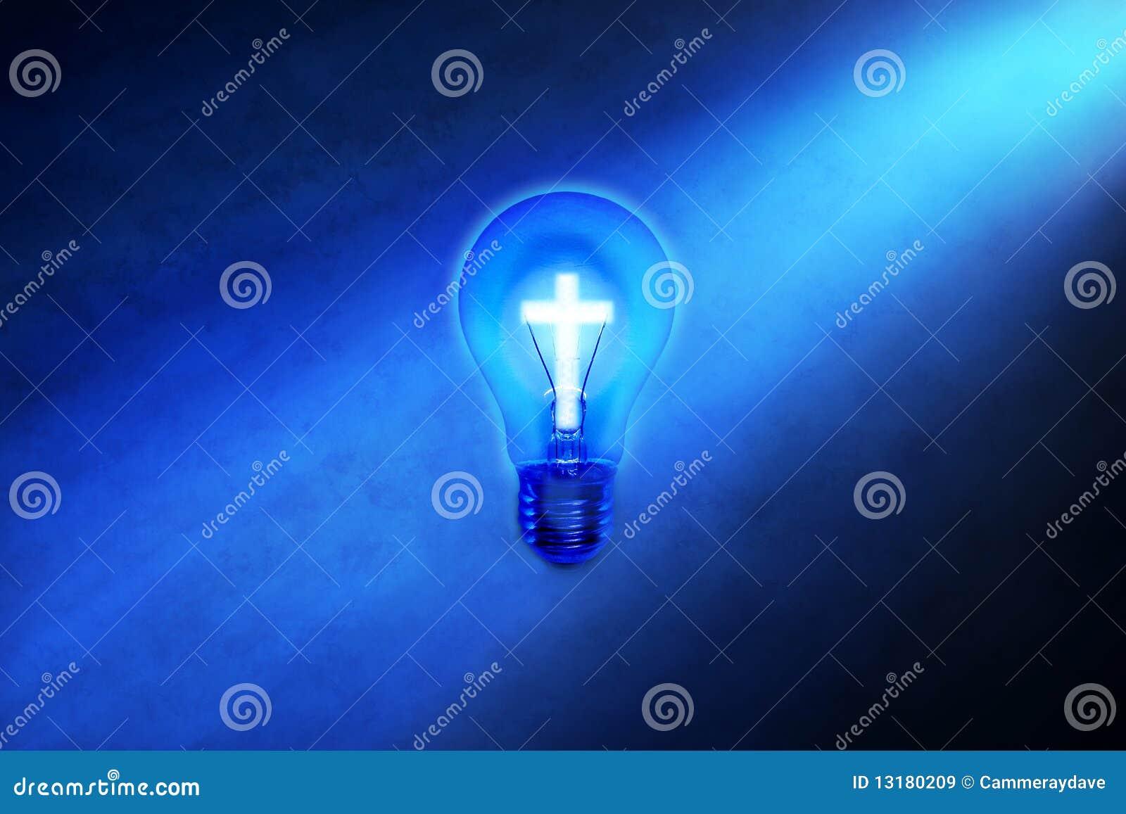 Religion Cross Light Bulb Stock Illustration Image Of