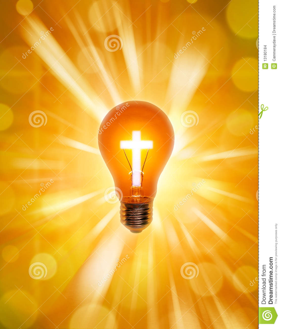 Religion Cross Light Bulb Christianity Stock Images - Image: 13180184