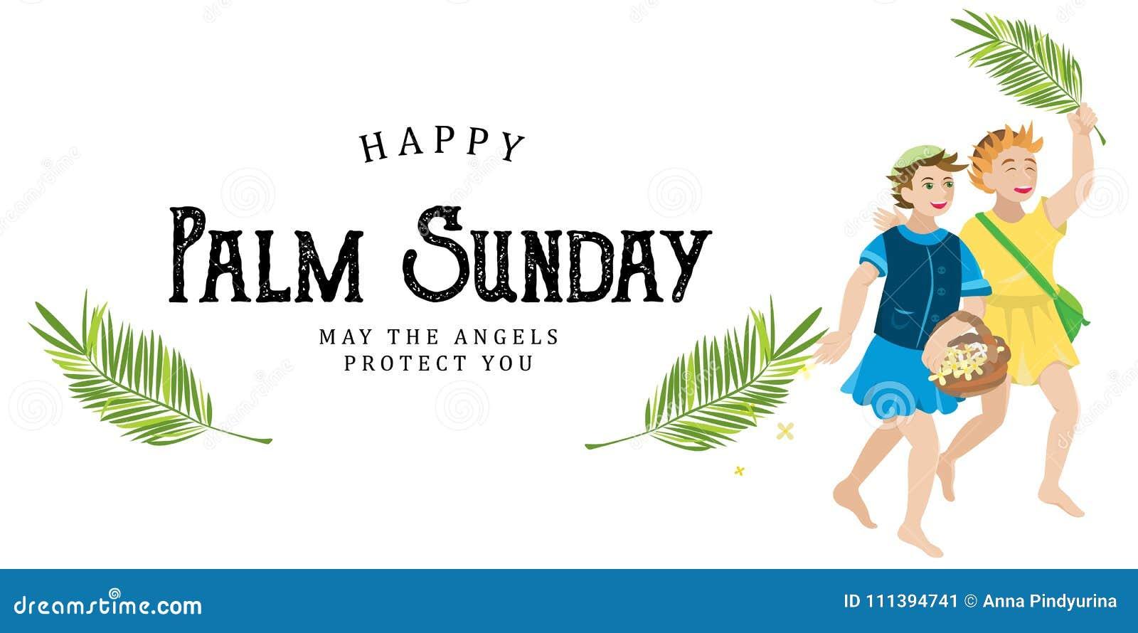 Sunday Kids Stock Illustrations