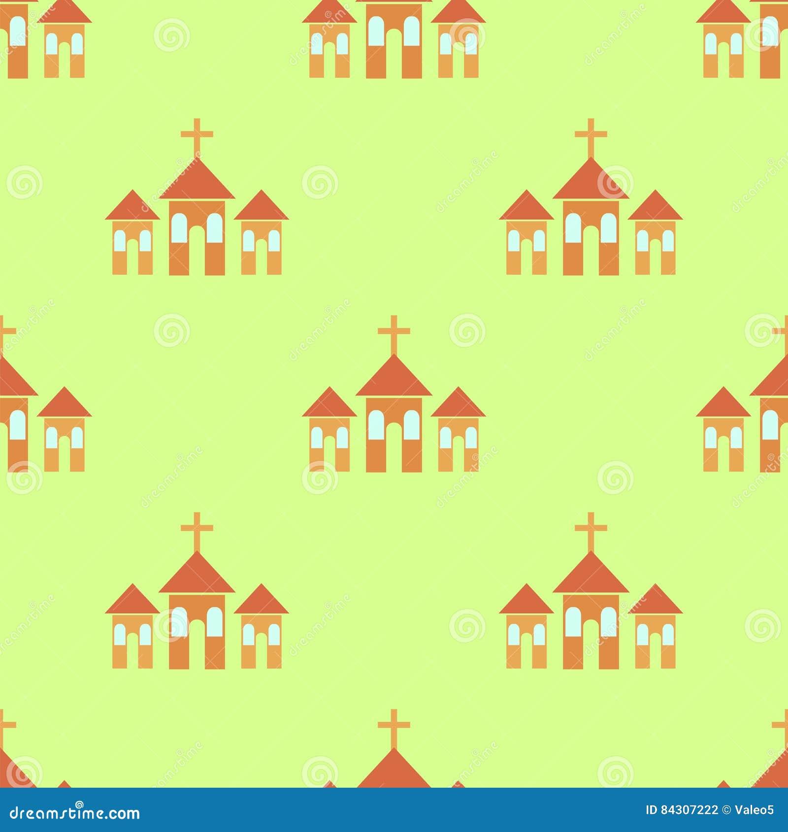 Religion Icon Seamless Pattern