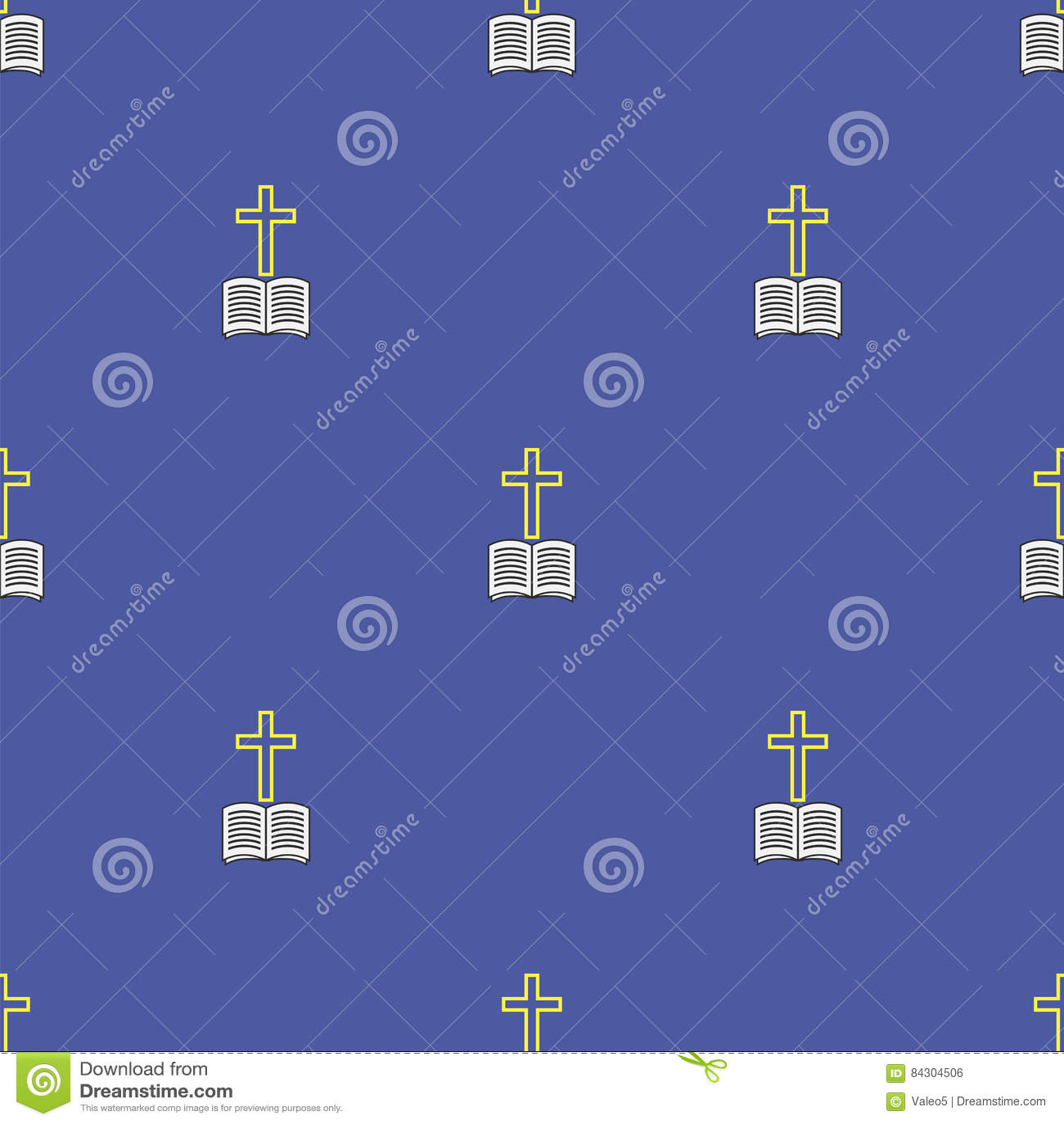 Religion Icons Seamless Pattern
