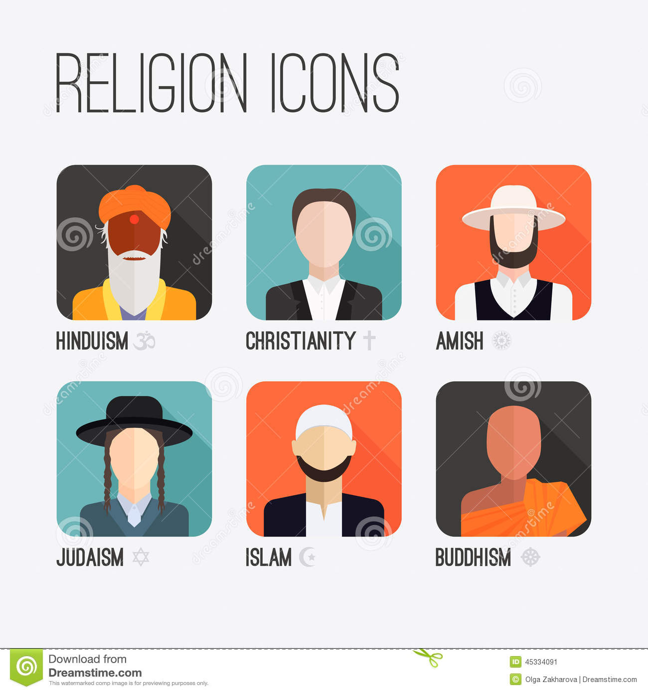 Religion people icons stock vector illustration of cross 45334091 religion people icons cross islam buycottarizona