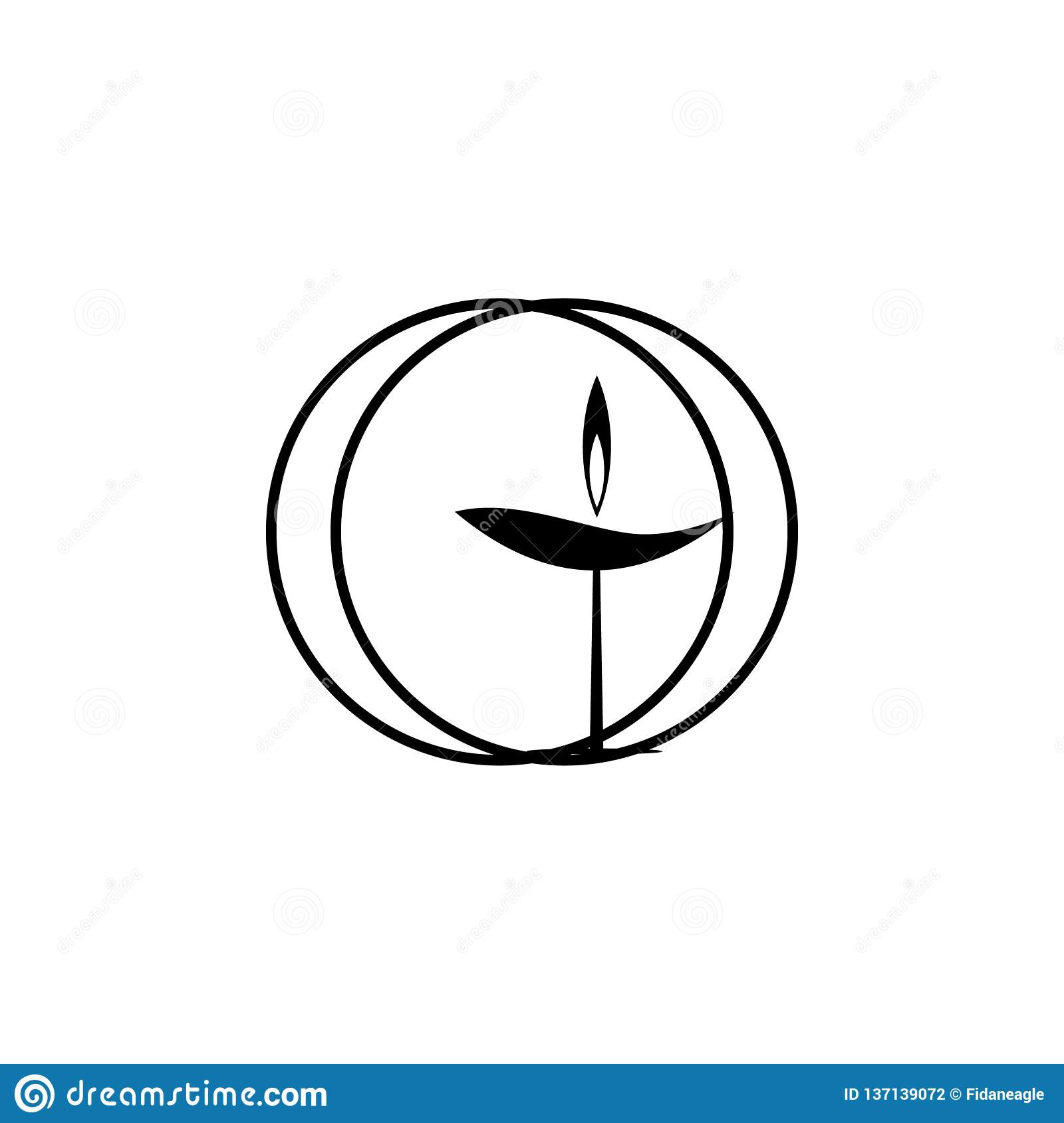 Religion symbol, Unitarian, universalism icon. Element of religion symbol illustration. Signs and symbols icon can be used for web