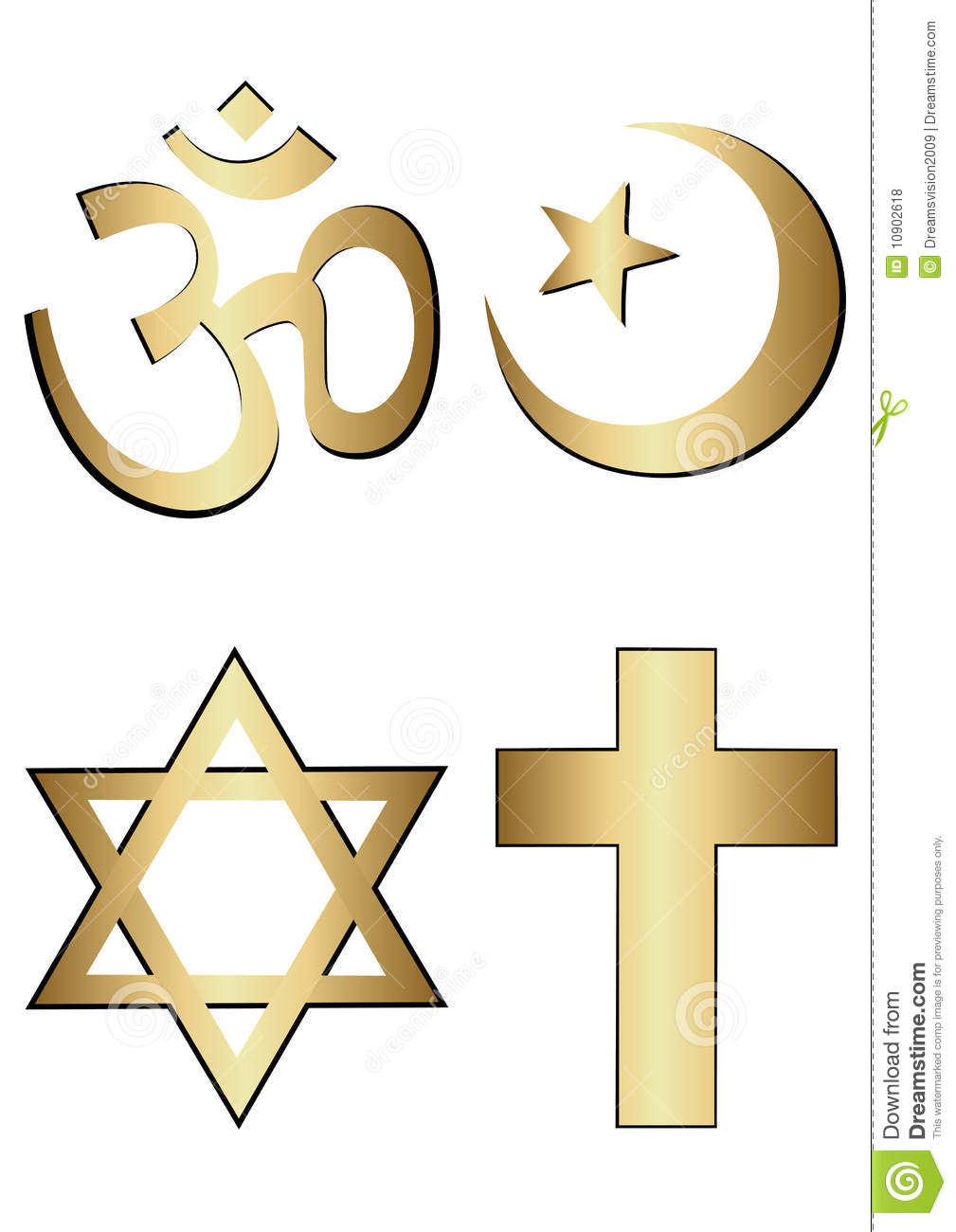 religion symbols stock vector image of elements world 10902618. Black Bedroom Furniture Sets. Home Design Ideas