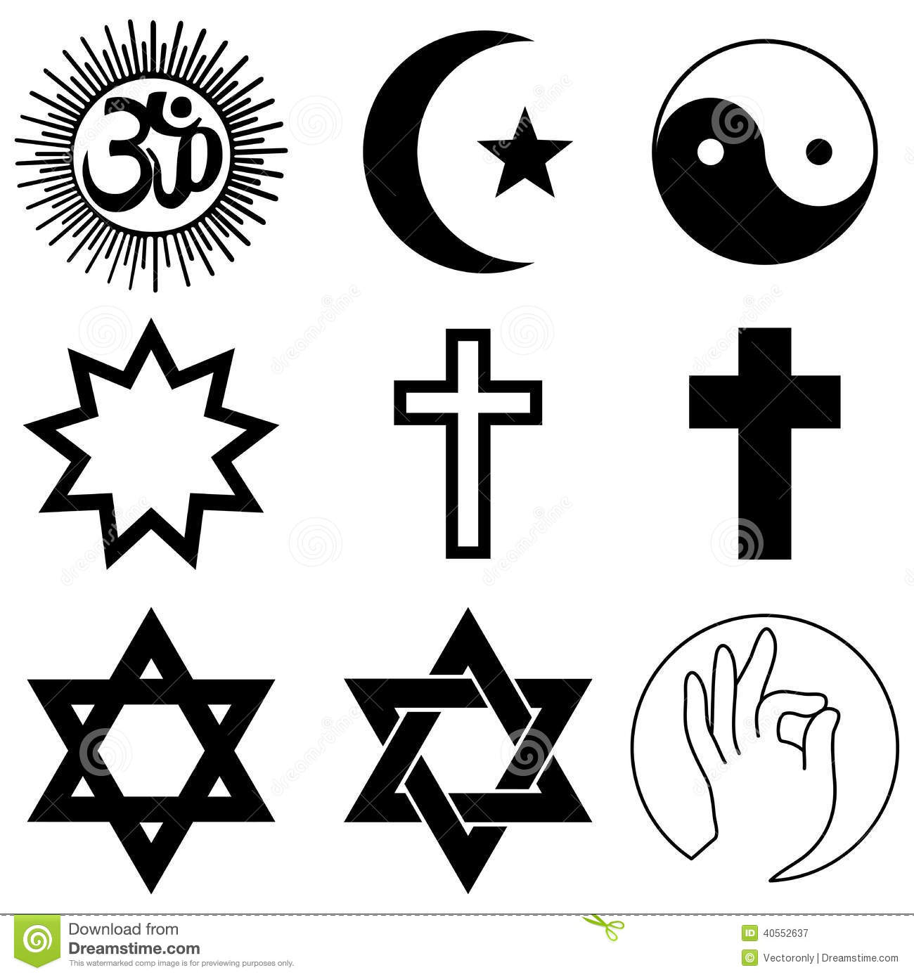 Religion symbols stock vector illustration of moses 40552637 religion symbols buycottarizona