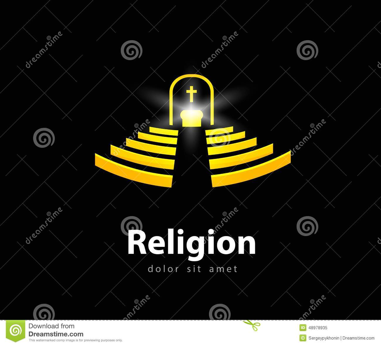 Religion Vector Logo Design Template. Church Or Stock ...