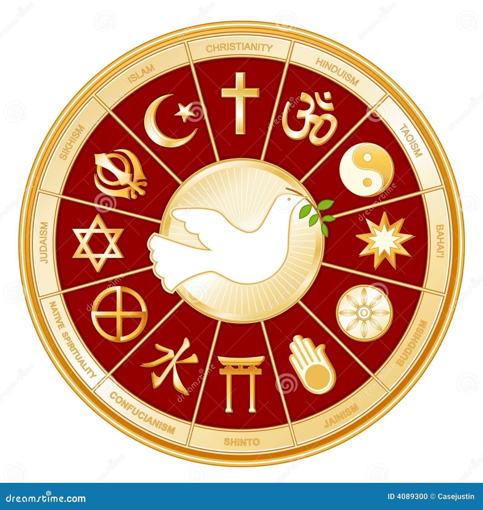 Religiones y paloma del mundo de +EPS