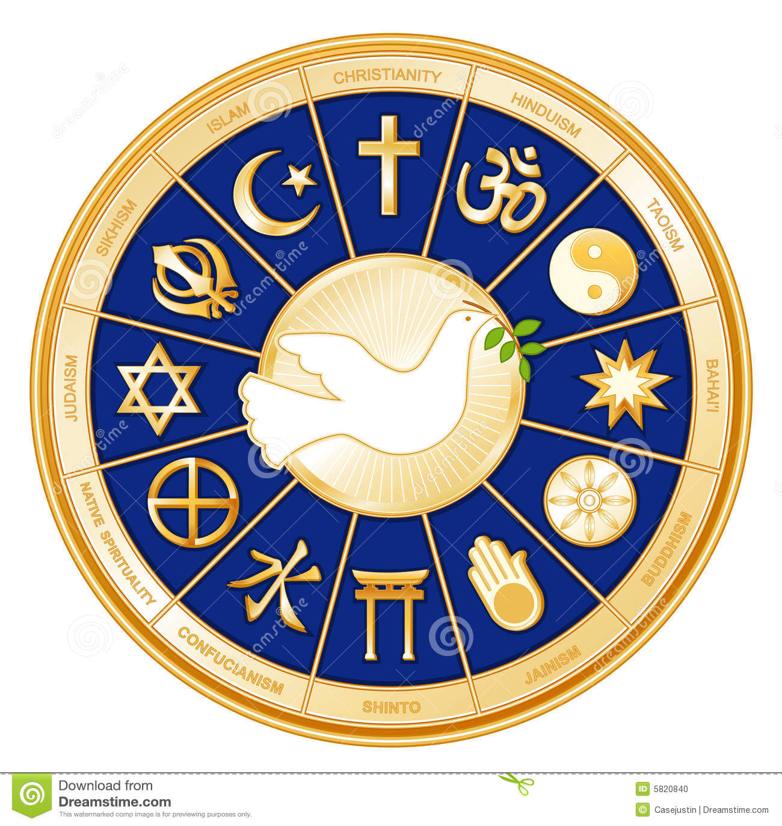 Religions du monde de +EPS, colombe