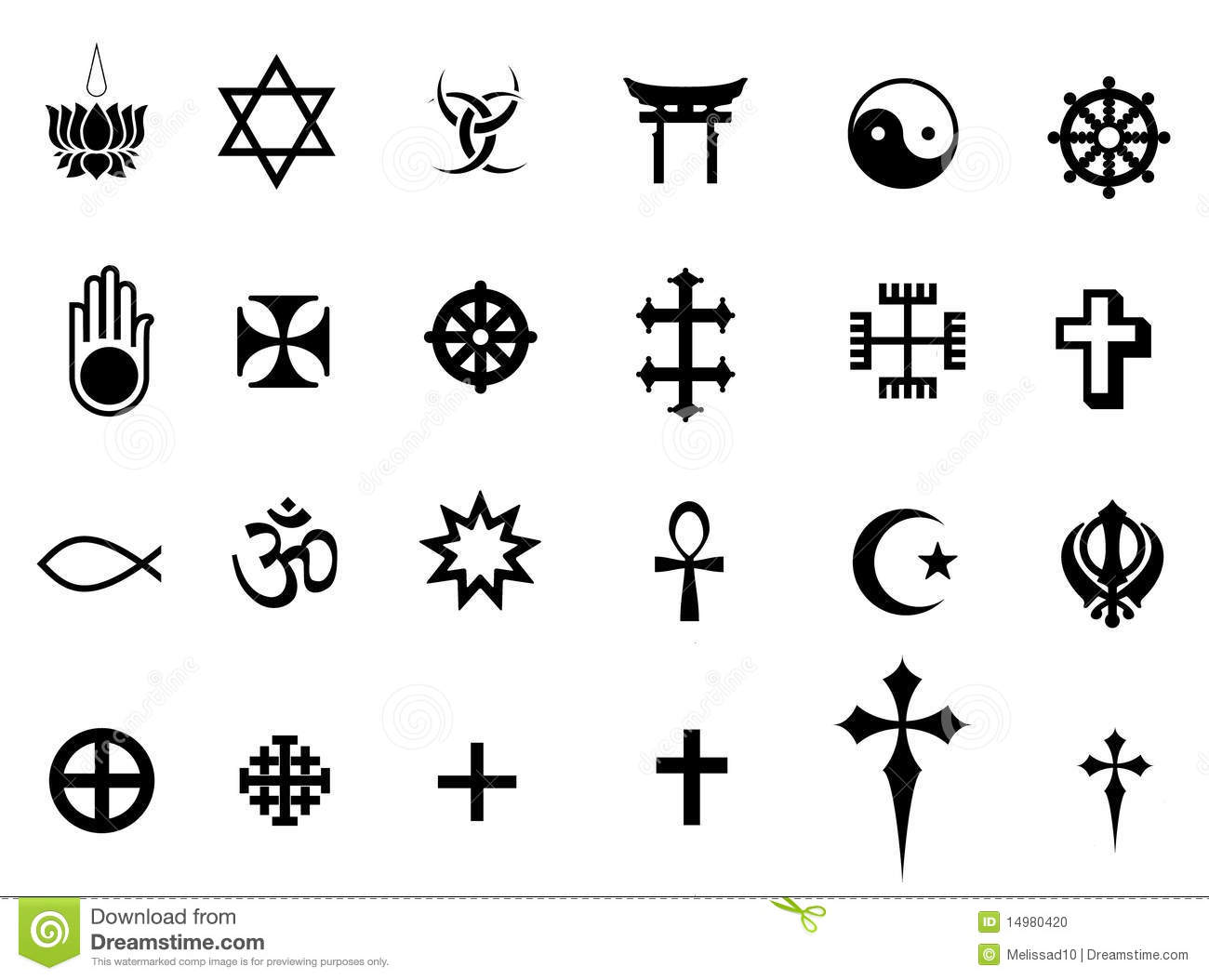 Stock Photo: Religions symbols. Image: