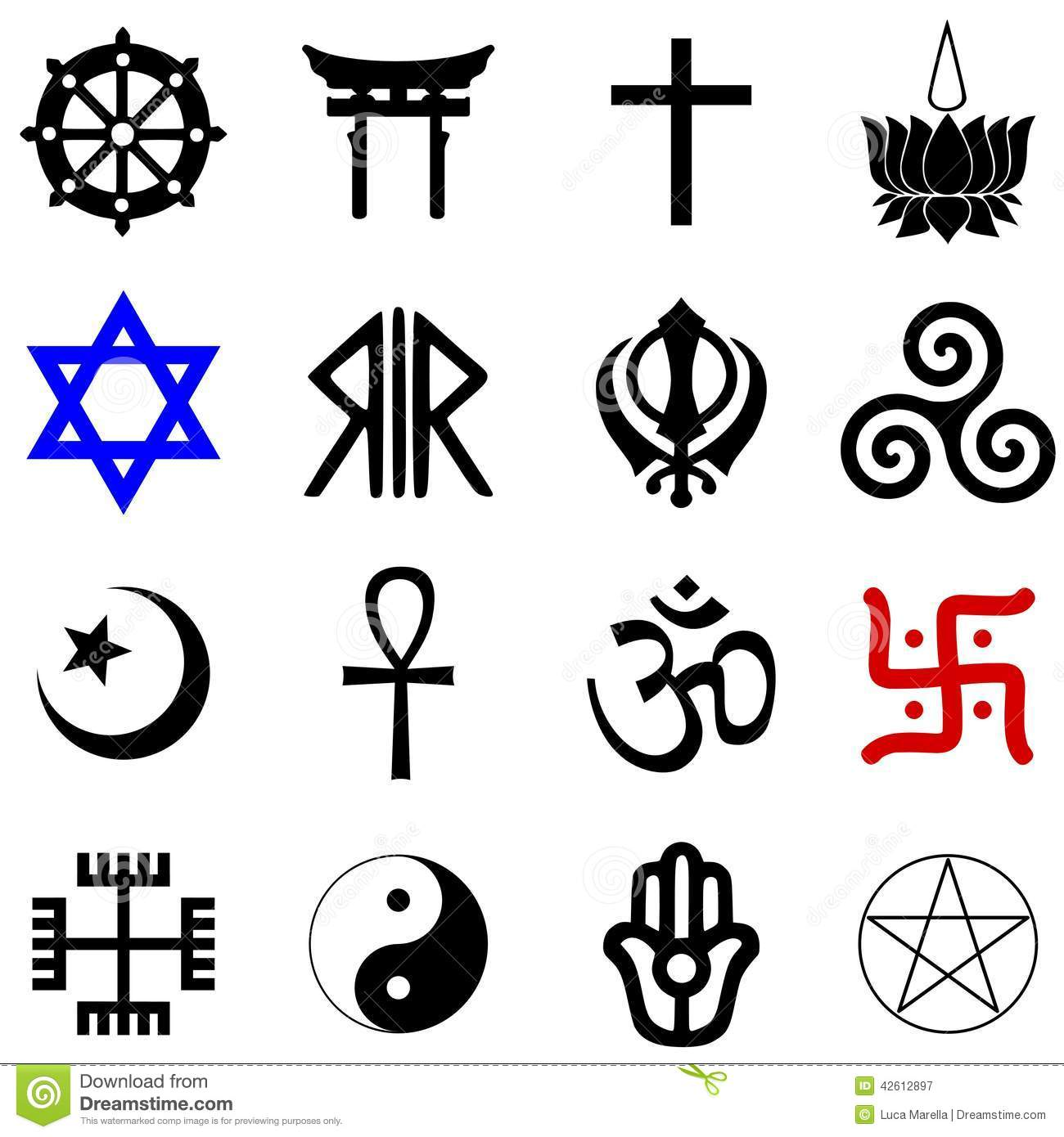 Religions Symbols Vector Illustration 42612897 Megapixl