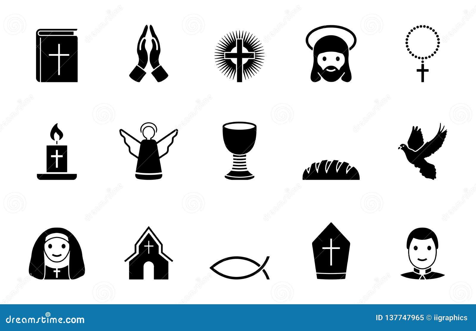 Religionsymbolsuppsättning
