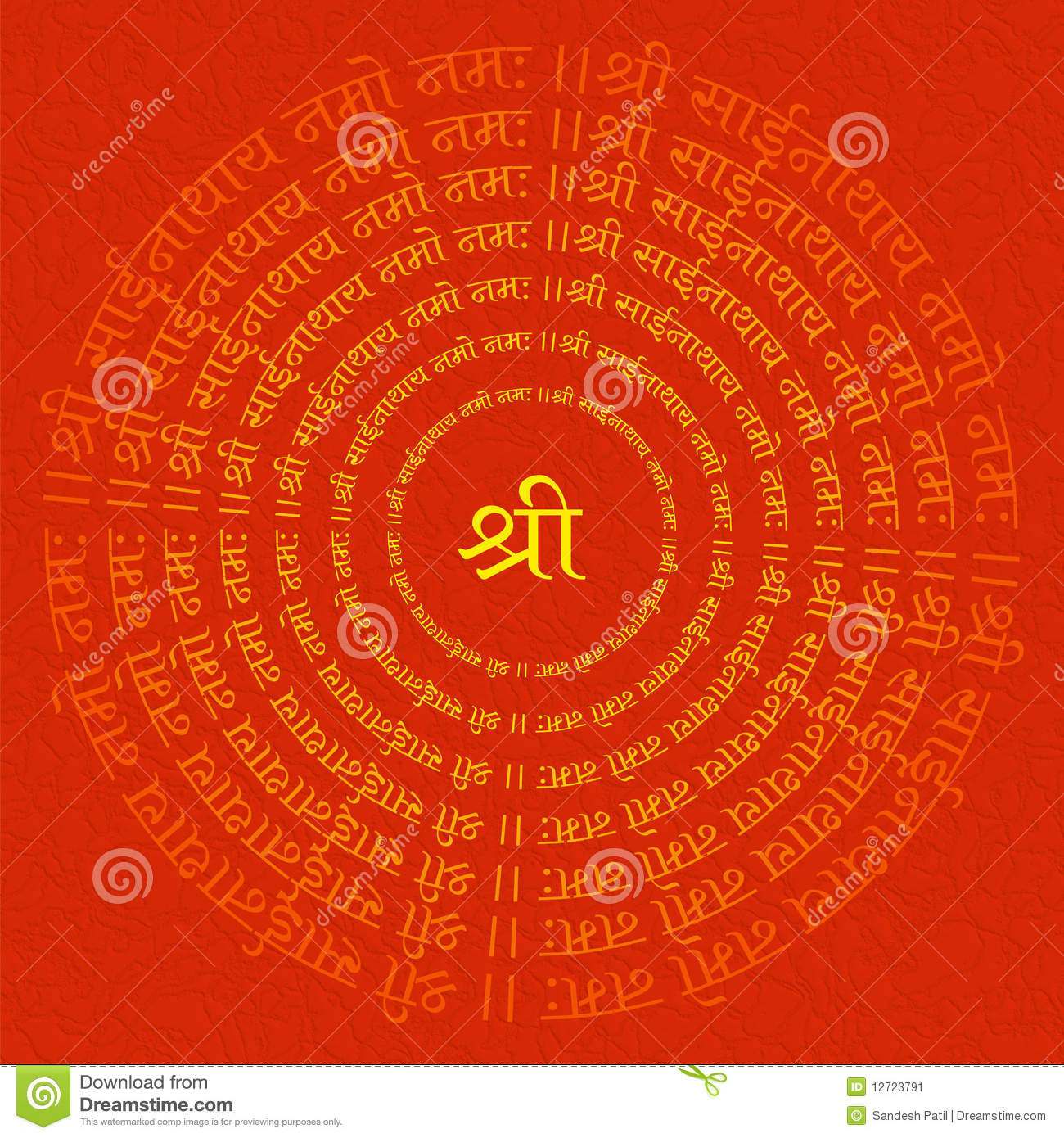 Religious Background stock image. Image of crease, ragged ... Indian Religious Background