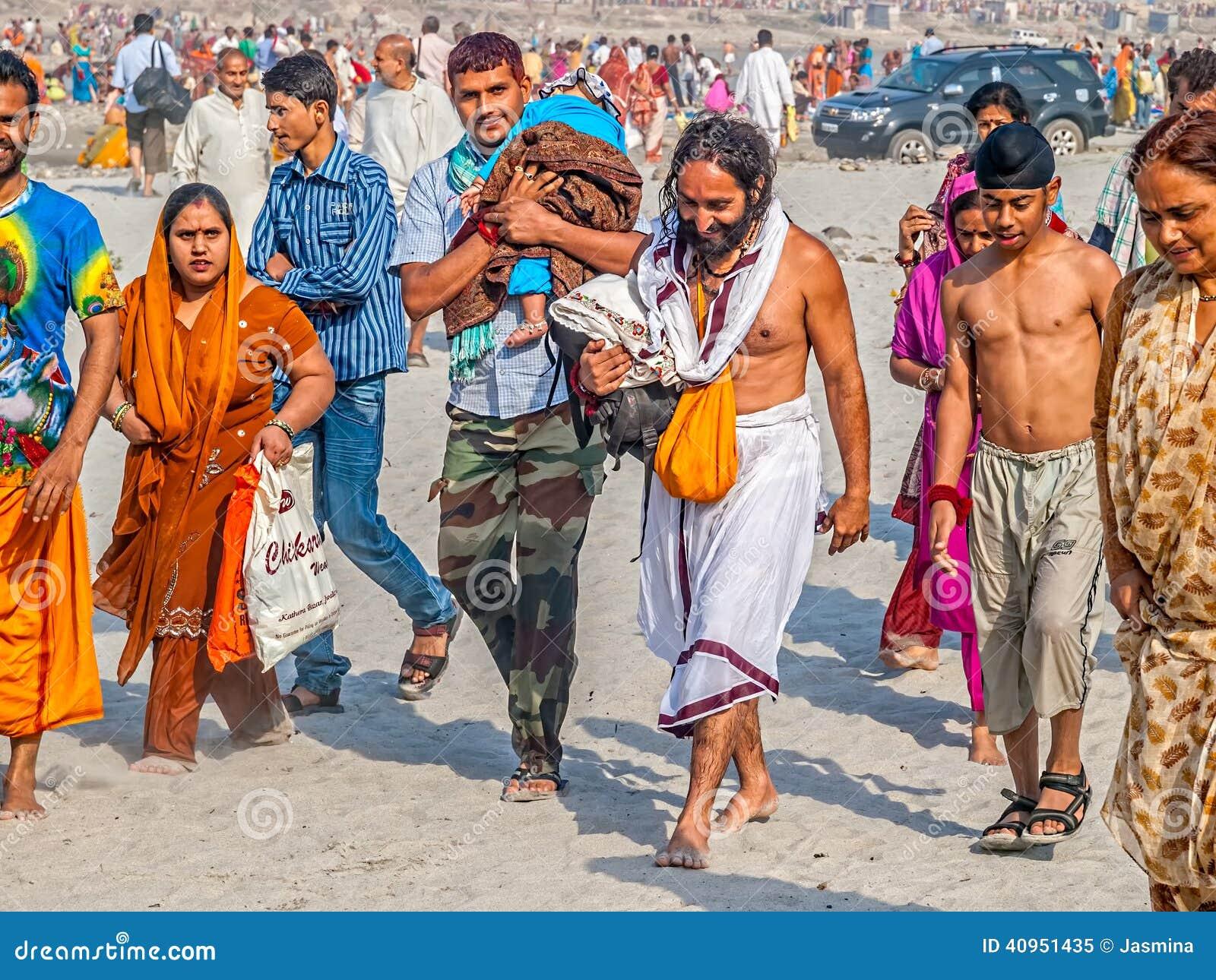 Religious Bathing At Kumbh Mela Editorial Image - Image ...