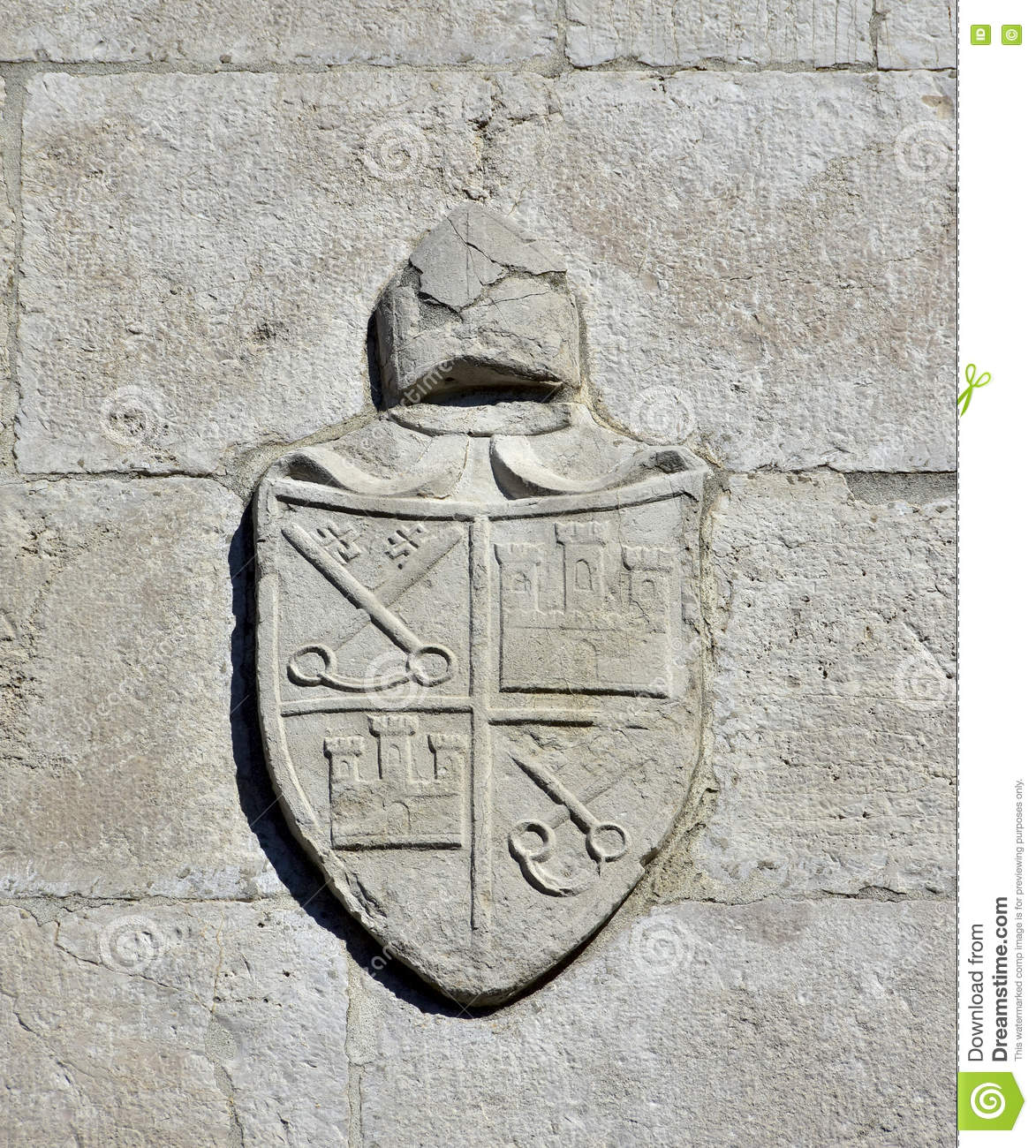 Religious Coat Of Arms In Venice Stock Photo Image Of Wall Power