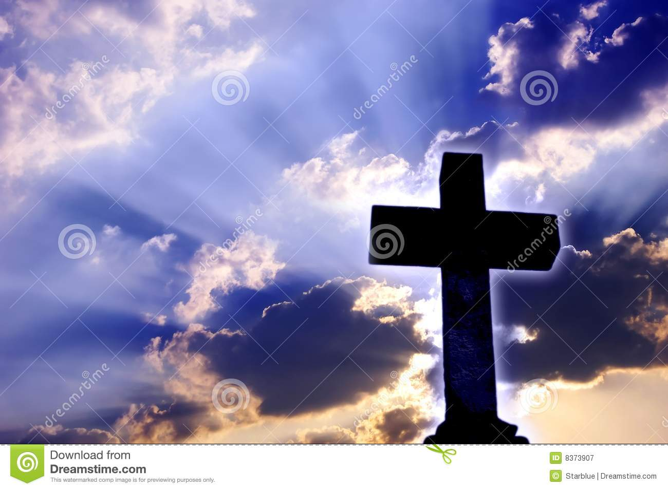 religious cross royalty light christian sky rays spirit dreamstime