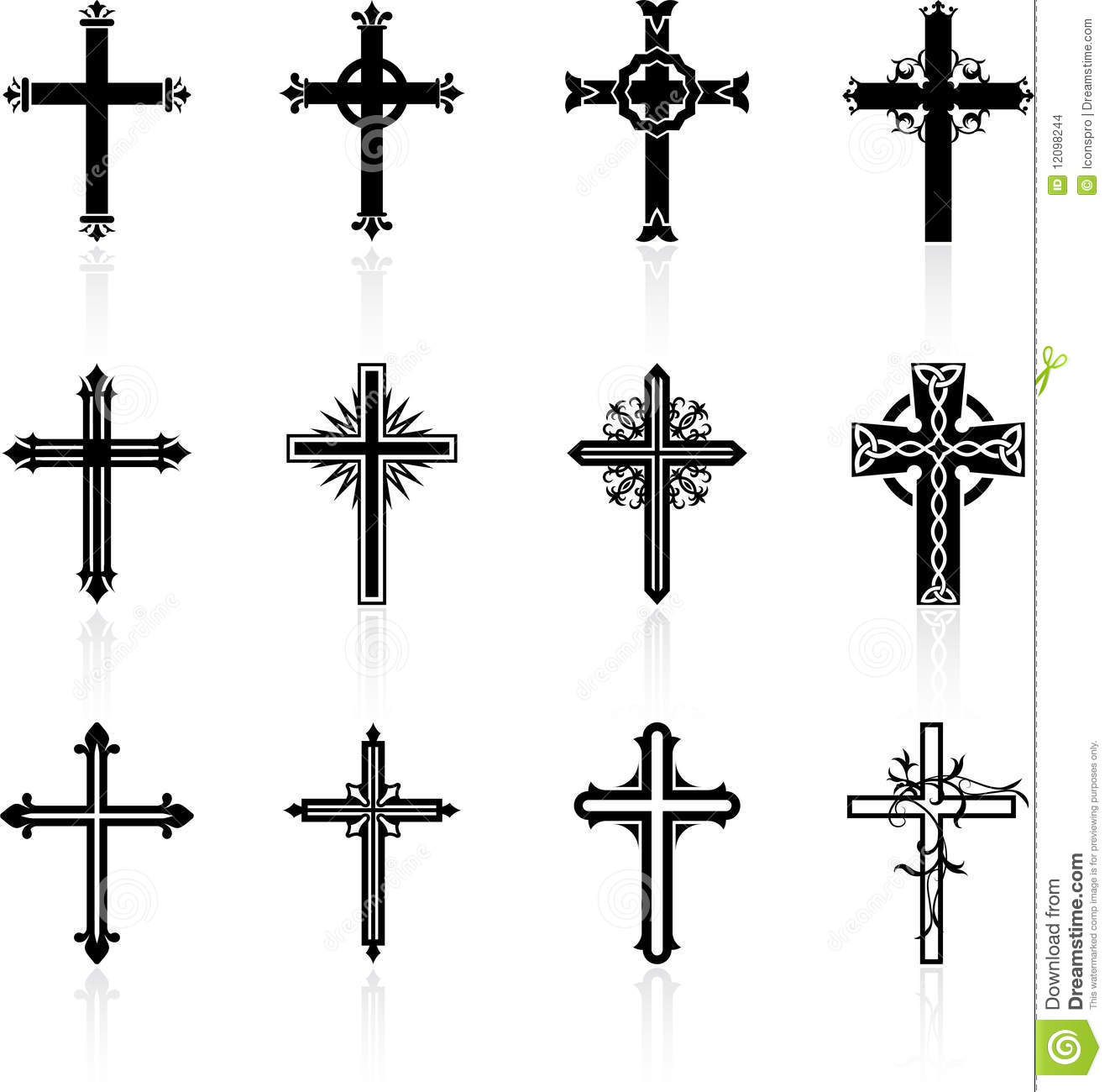 Religious Cross Design Collection Stock Images - Image: 12098244