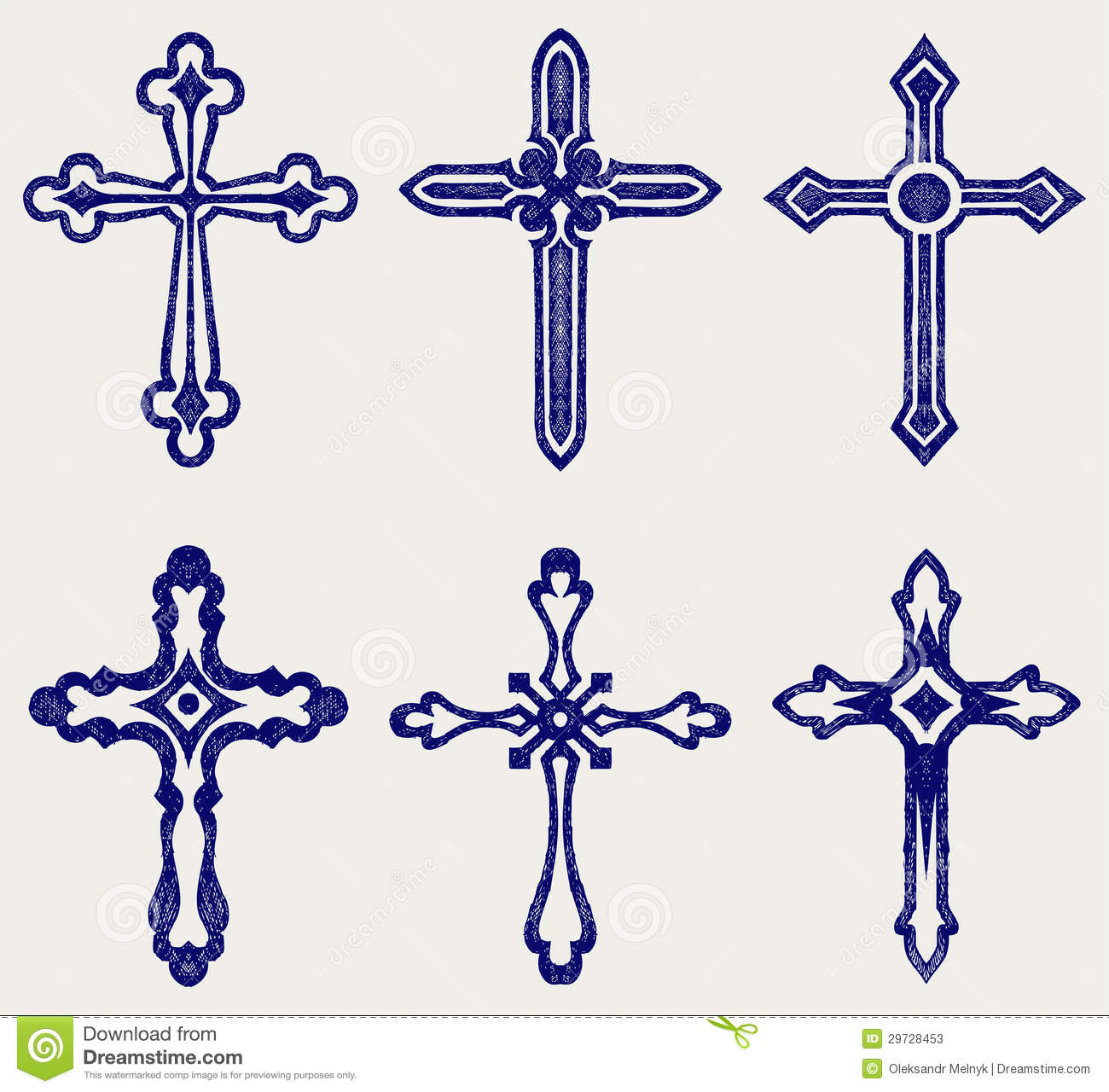 Religious Cross Design Collection Stock Photos - Image: 29728453
