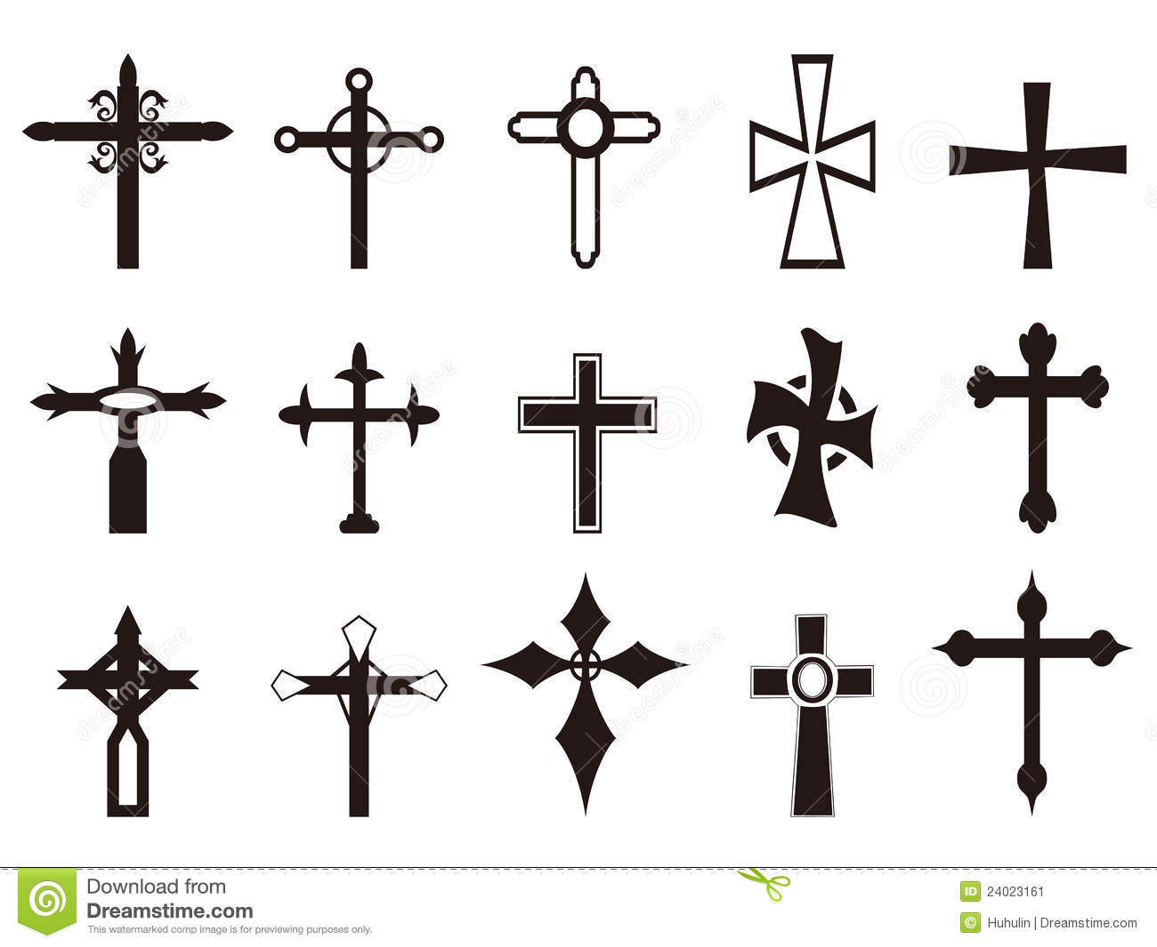 Religious Cross Symbol Set Stock Vector Illustration Of Cross