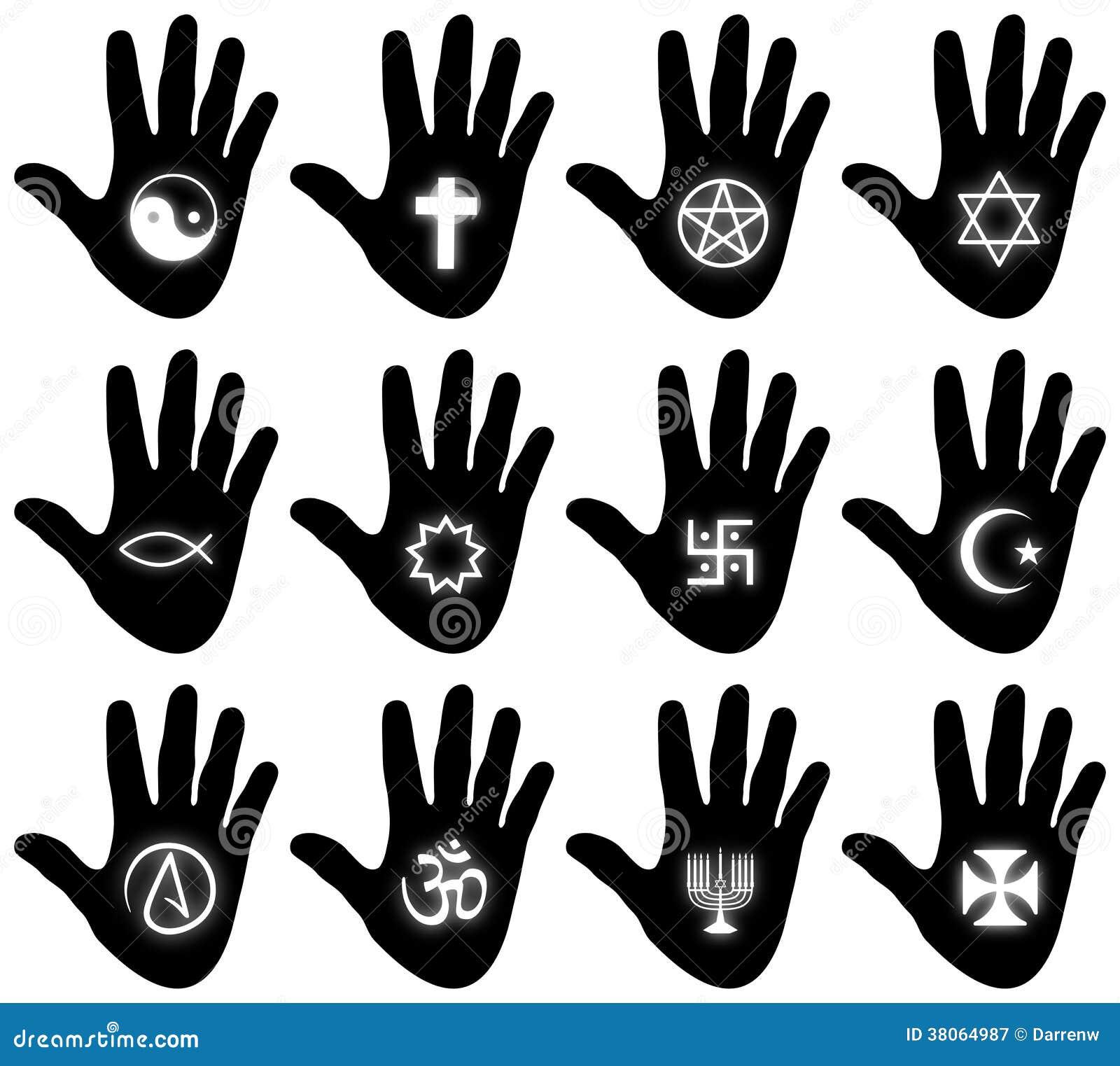 Religious Hand Symbols Stock Illustration Illustration Of Judaism