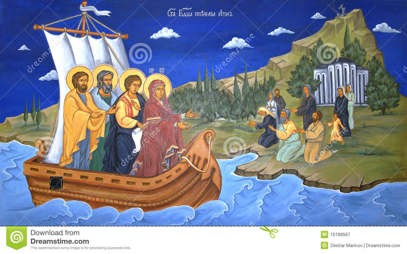 Religious mural painting royalty free stock photography for Christian mural