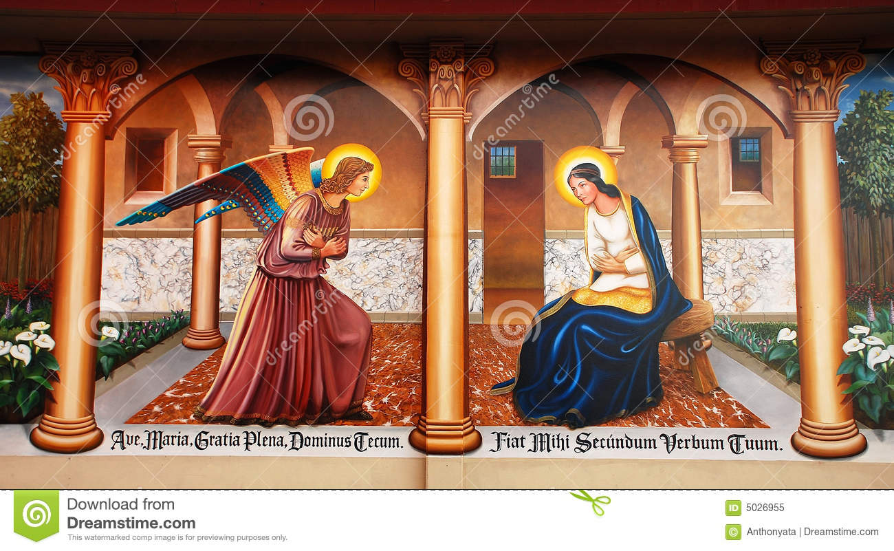 Religious mural on wall royalty free stock photo image for Christian mural