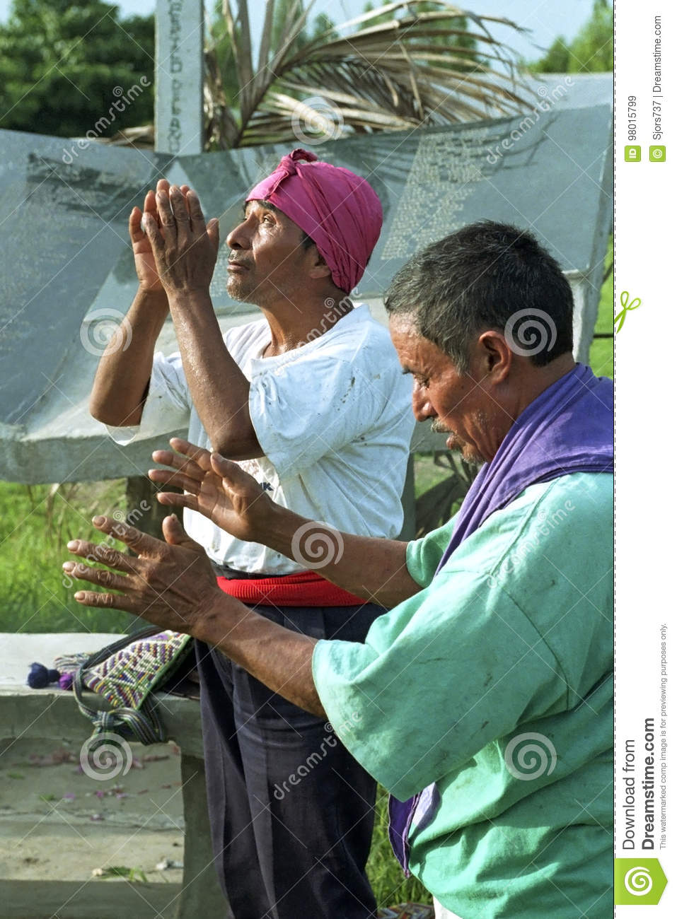 Religious ritual of Guatemalan Ixil Indian priests