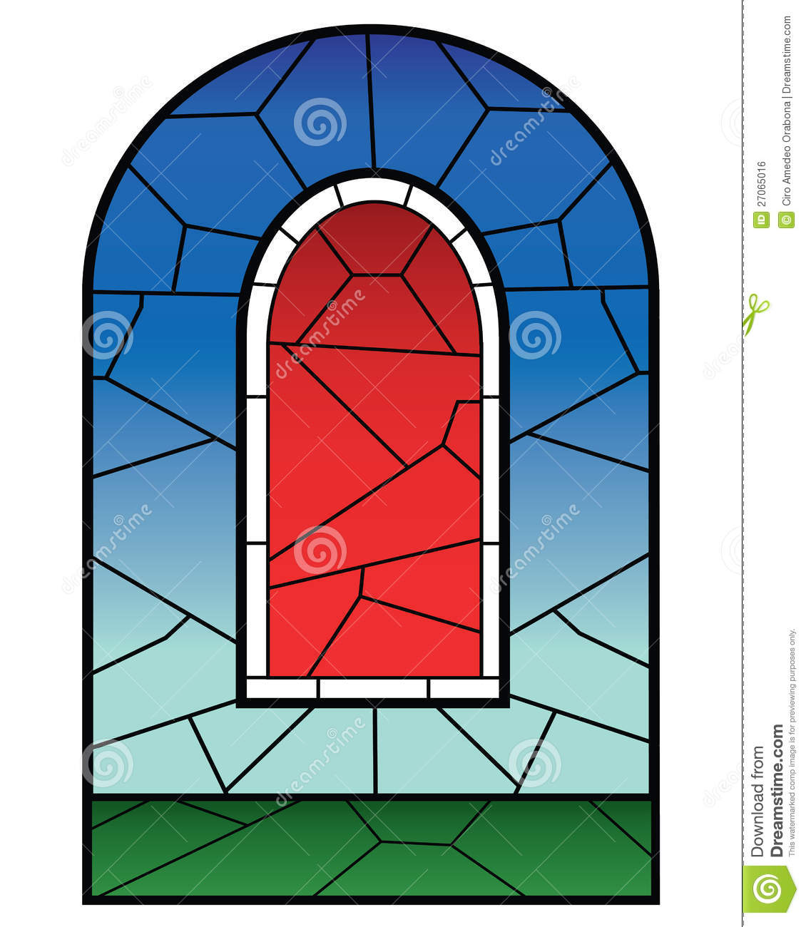 Glass Window Clip Art : Religious stained glass window stock vector image