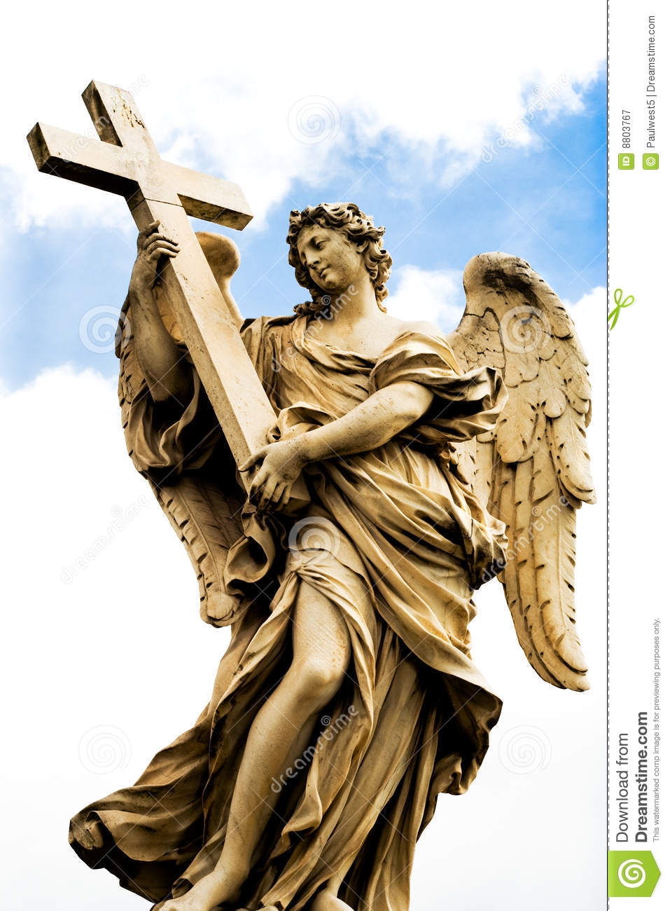 Religious statue from Rome stock image. Image of robes ...