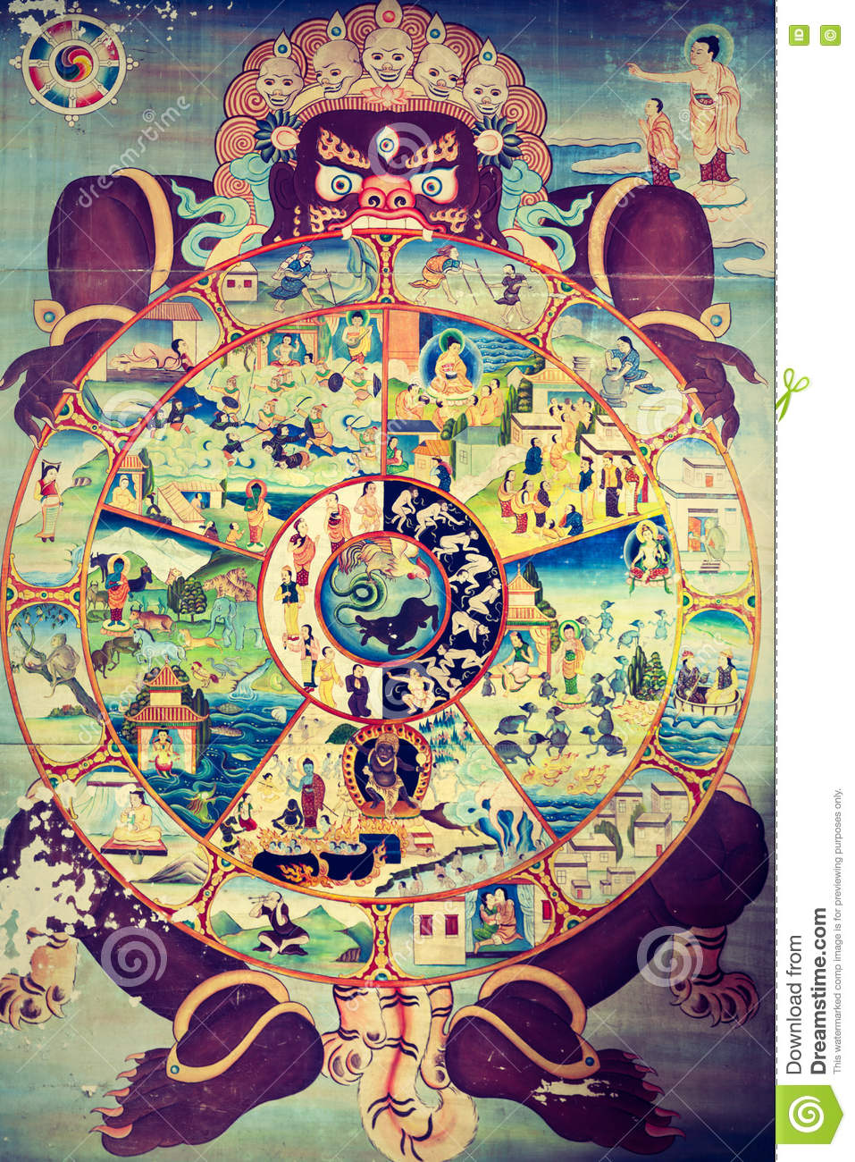 Religious Symbol Of The Cycle Of Life In The Buddhist Religion Stock Image Image Of Culture Buddhist 81408289