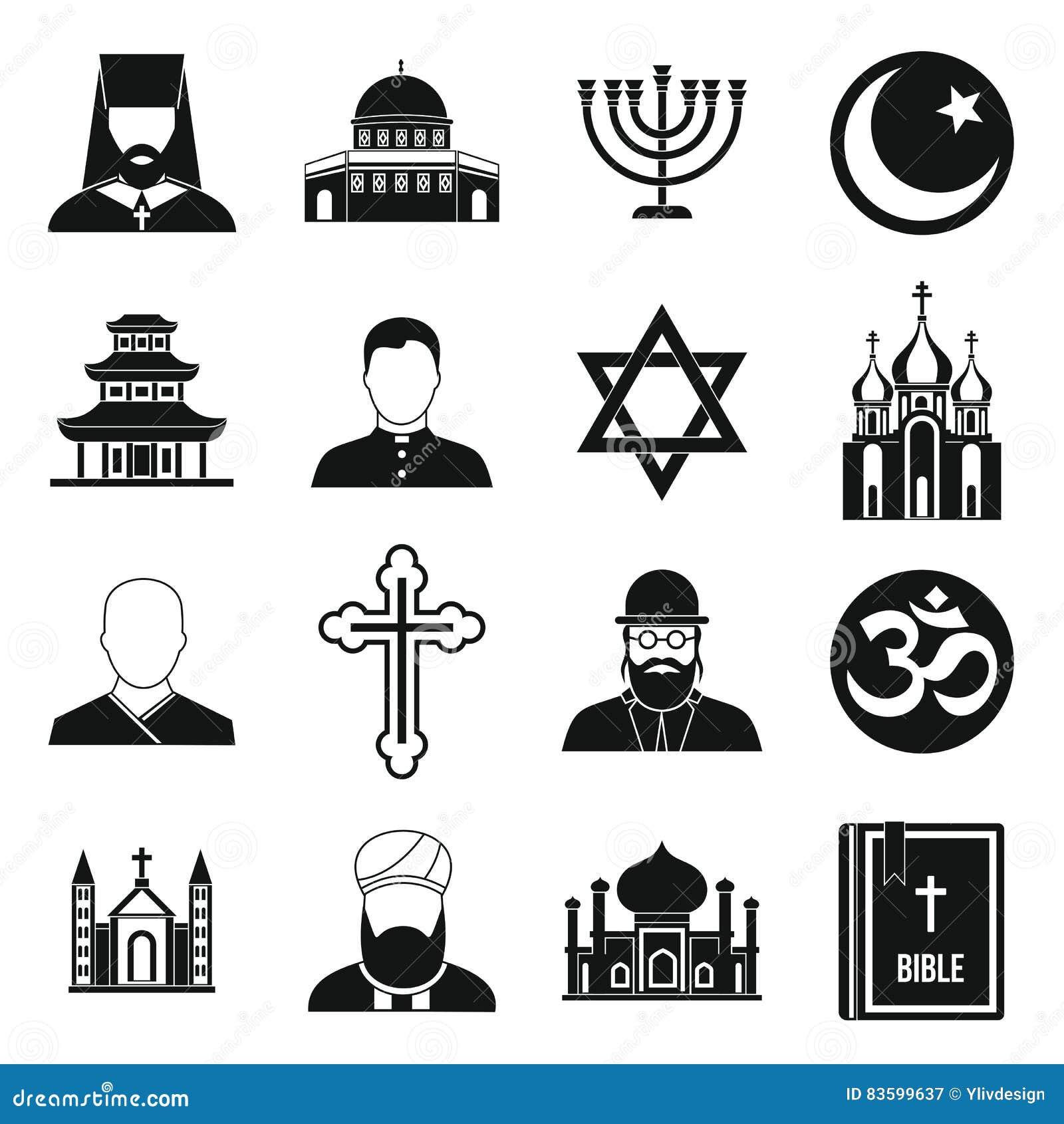 world religion symbols stock photo illustration of