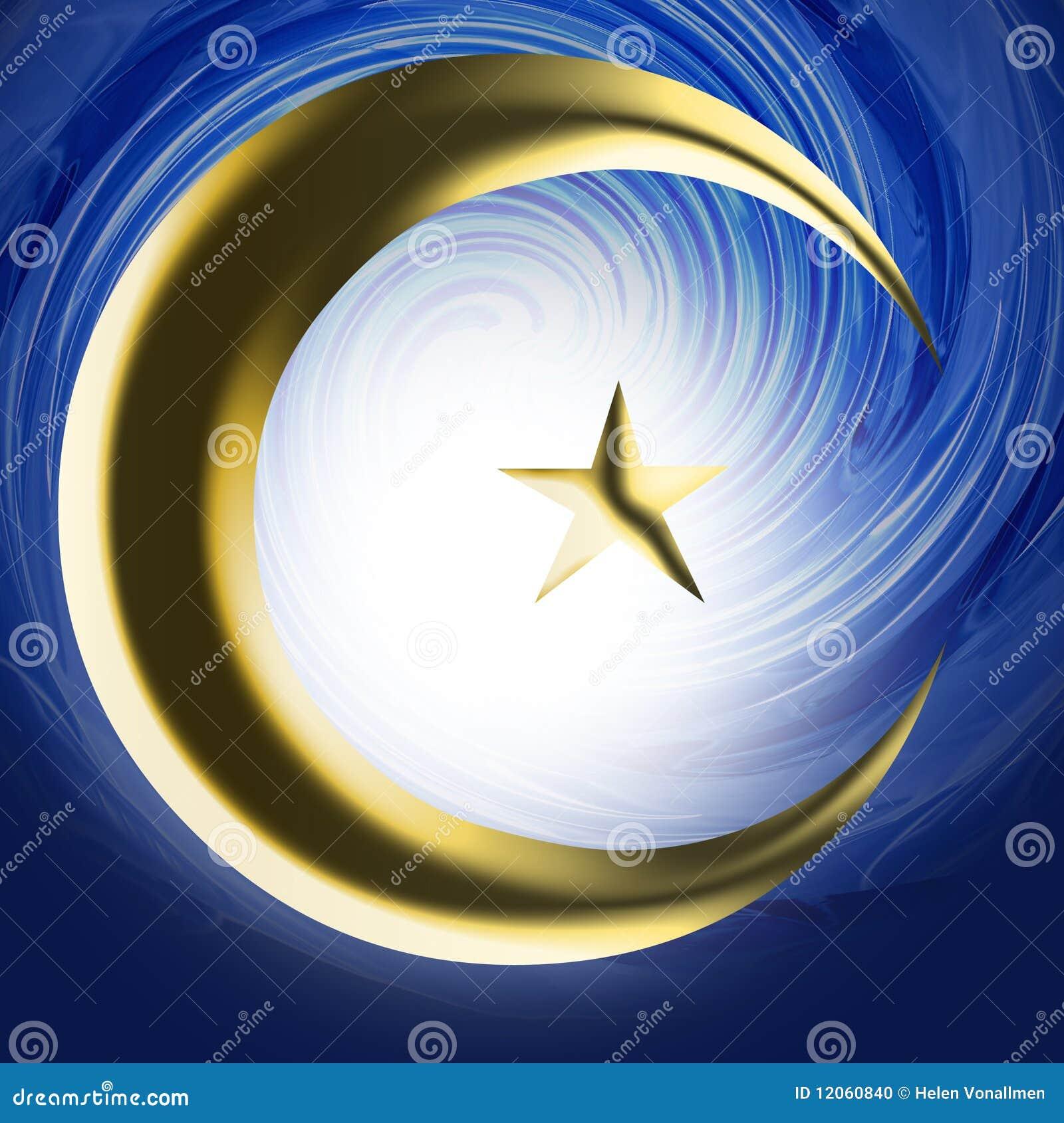 Religious Symbol Islam Stock Photo Image Of Blue Mandala 12060840