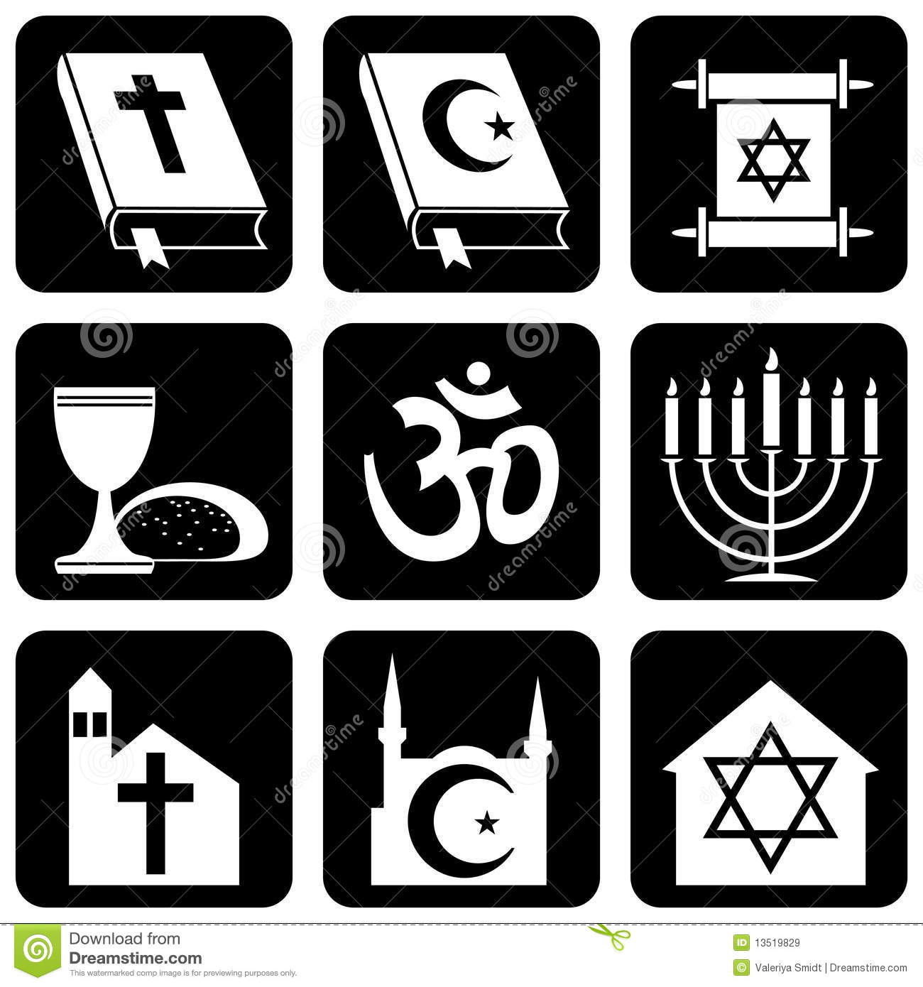 Religious symbols stock vector illustration of koran 13519829 religious symbols koran judaism biocorpaavc